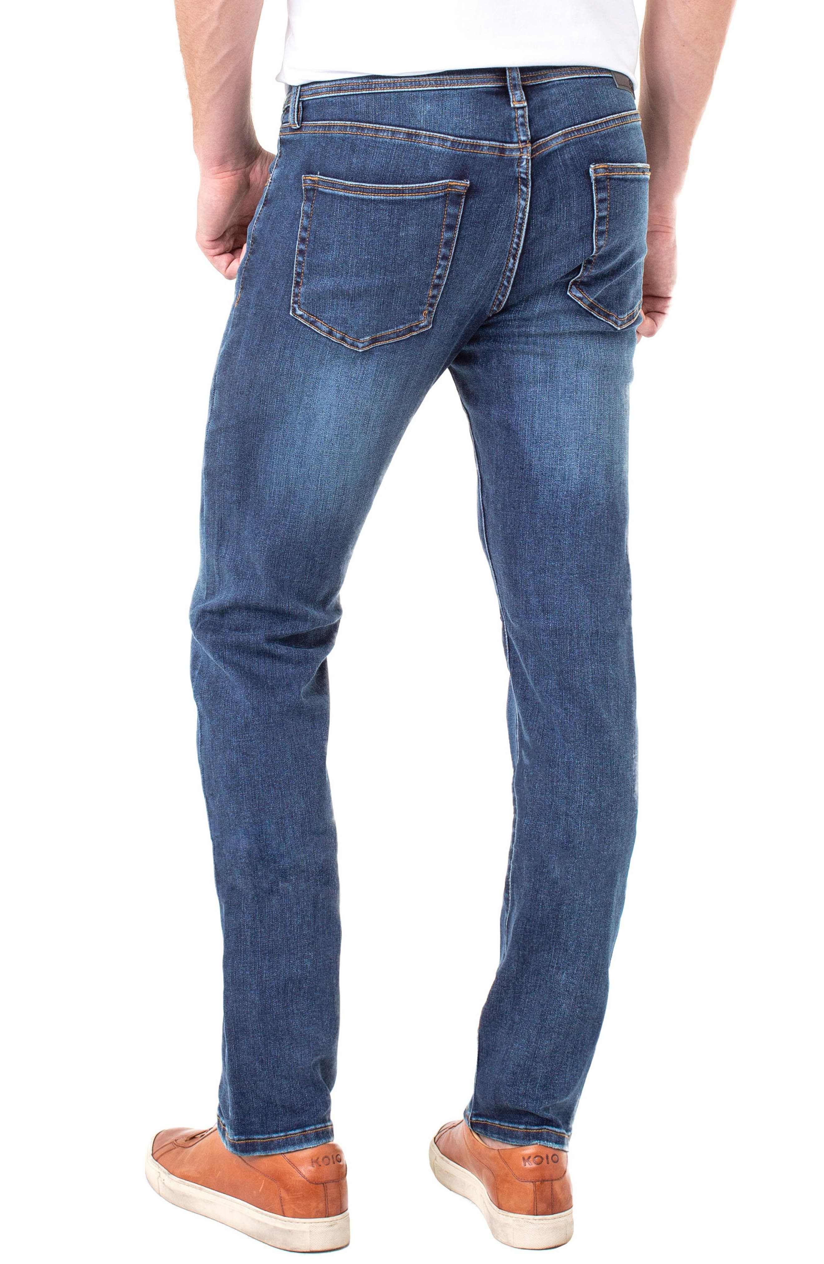 LIVERPOOL, Regent Relaxed Straight Leg Jeans, Alternate thumbnail 2, color, ADVENT