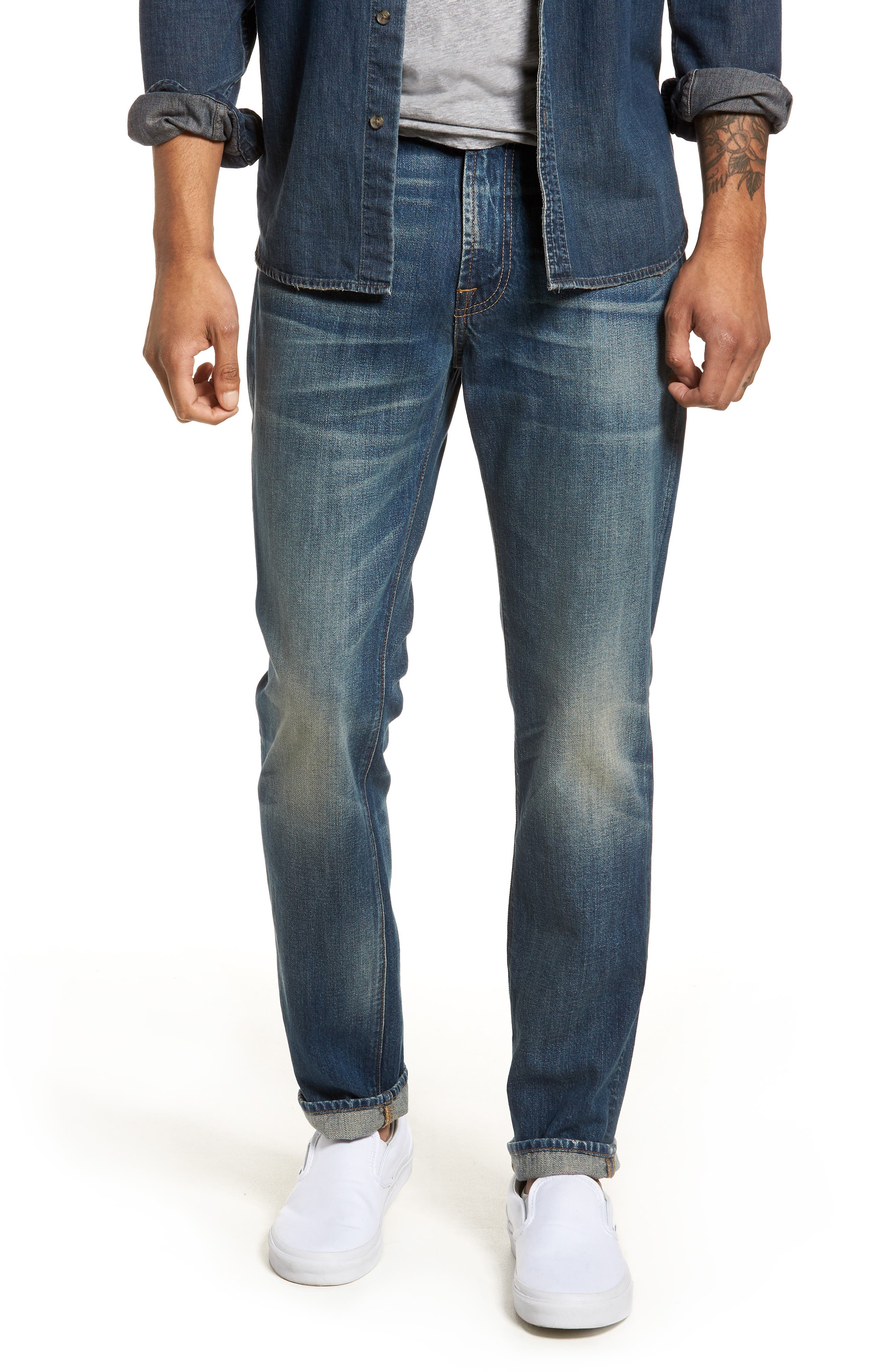 7 FOR ALL MANKIND<SUP>®</SUP>, Adrien Slim Fit Jeans, Main thumbnail 1, color, LEGEND
