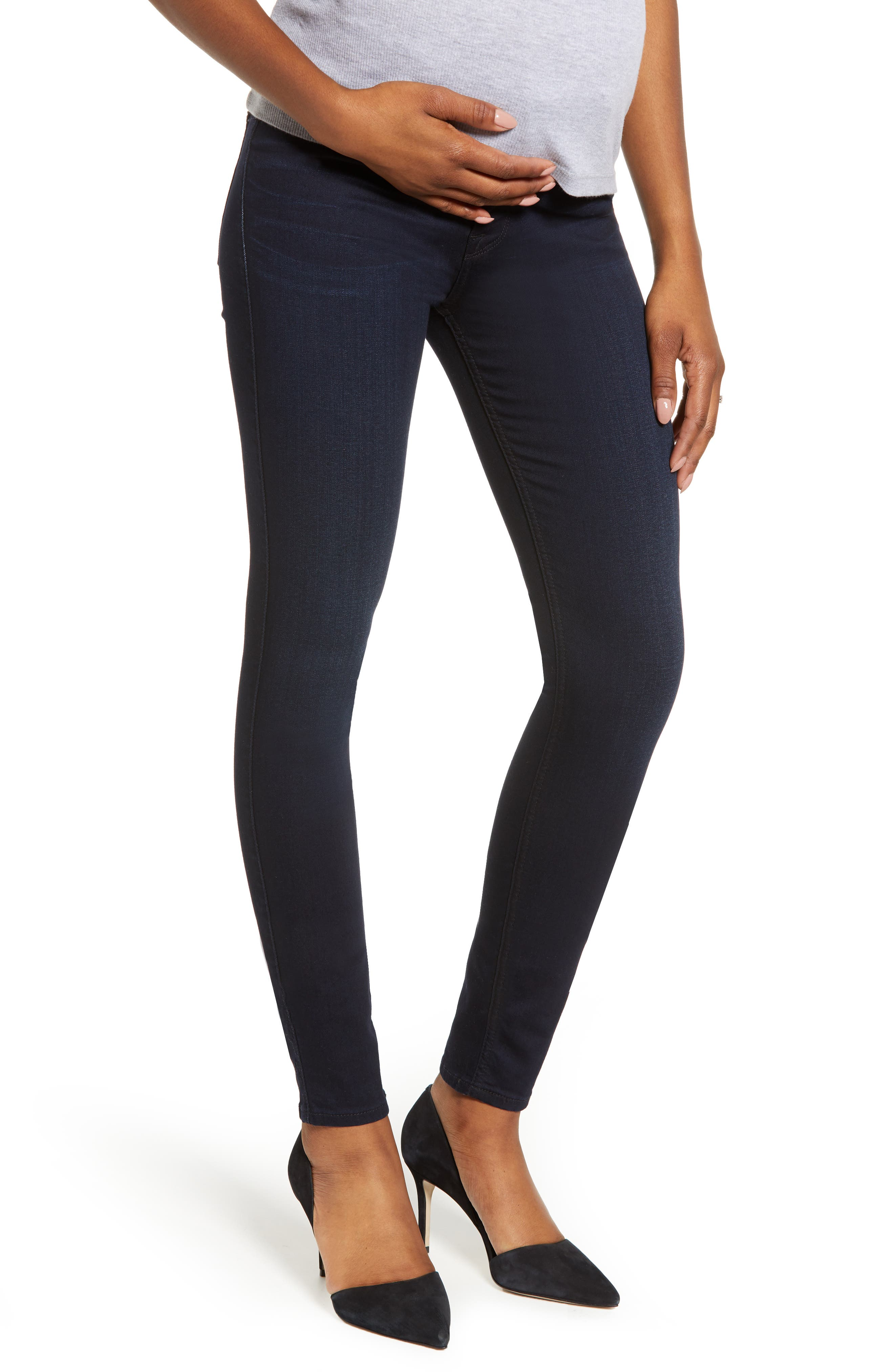 Women's 7 For All Mankind B(Air) High Waist Ankle Skinny Maternity Jeans