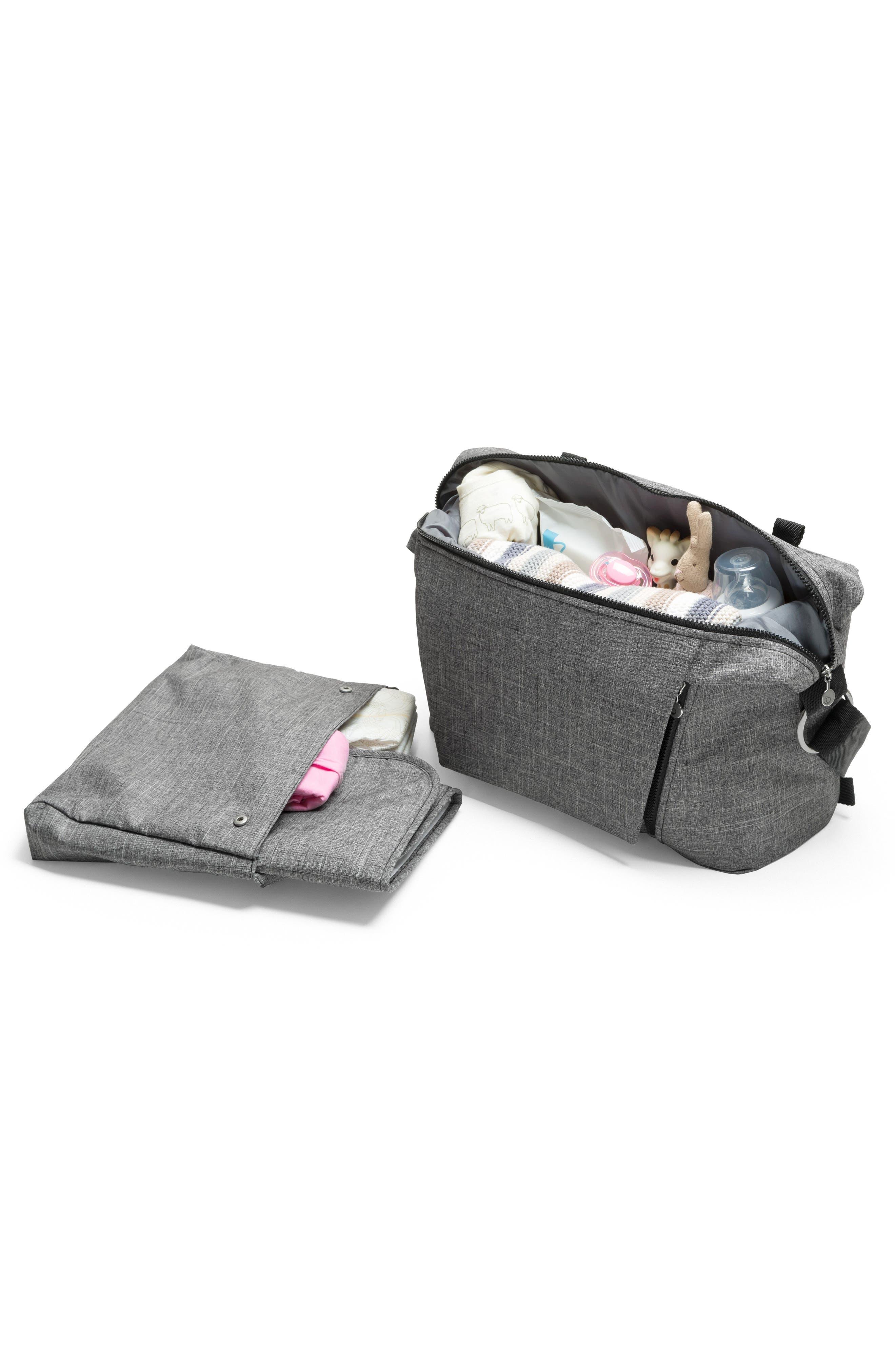 STOKKE, Changing Diaper Bag, Main thumbnail 1, color, BLACK MELANGE