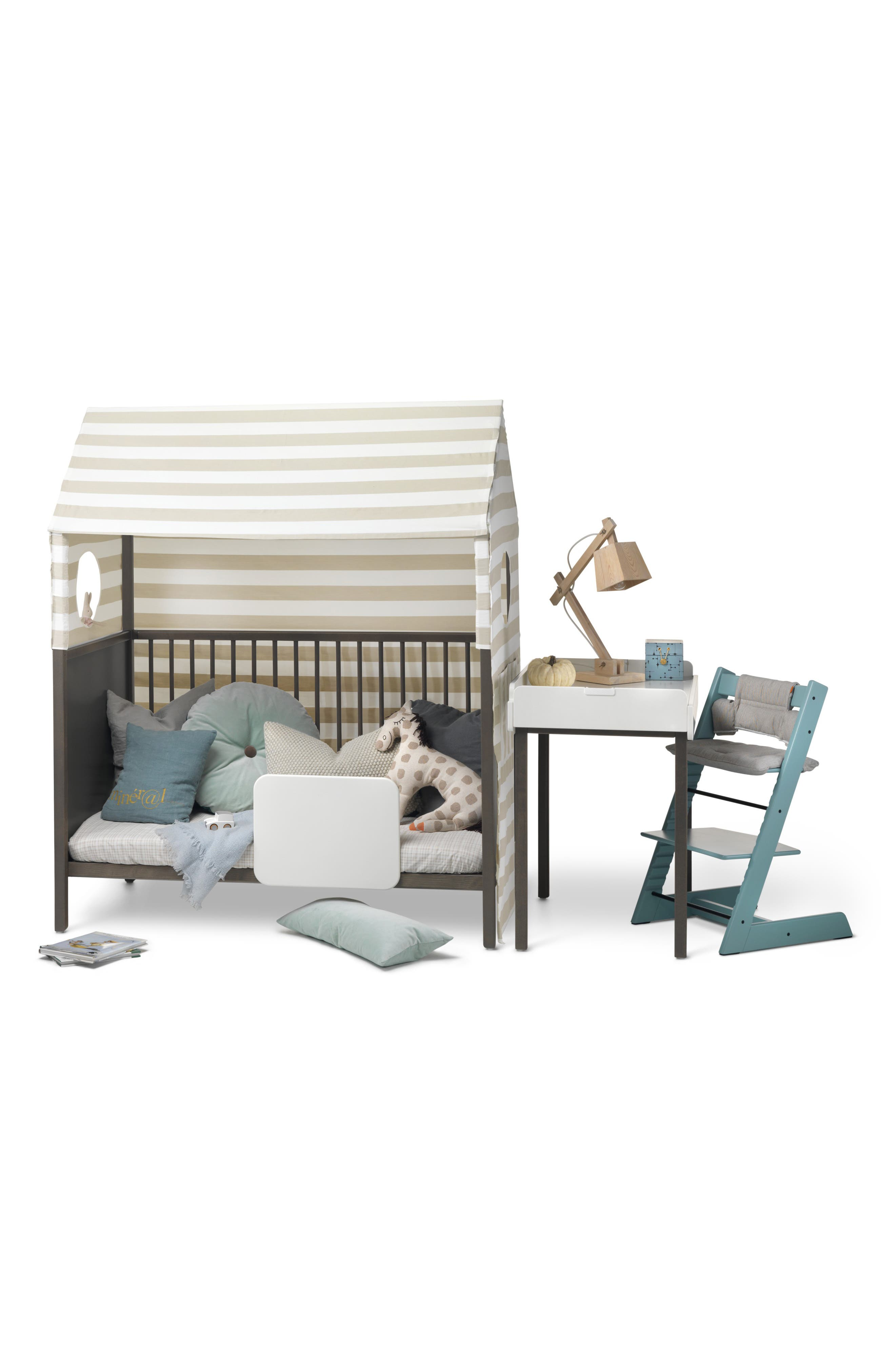 STOKKE, 'Home<sup>™</sup>' Bed, Alternate thumbnail 6, color, HAZY GREY