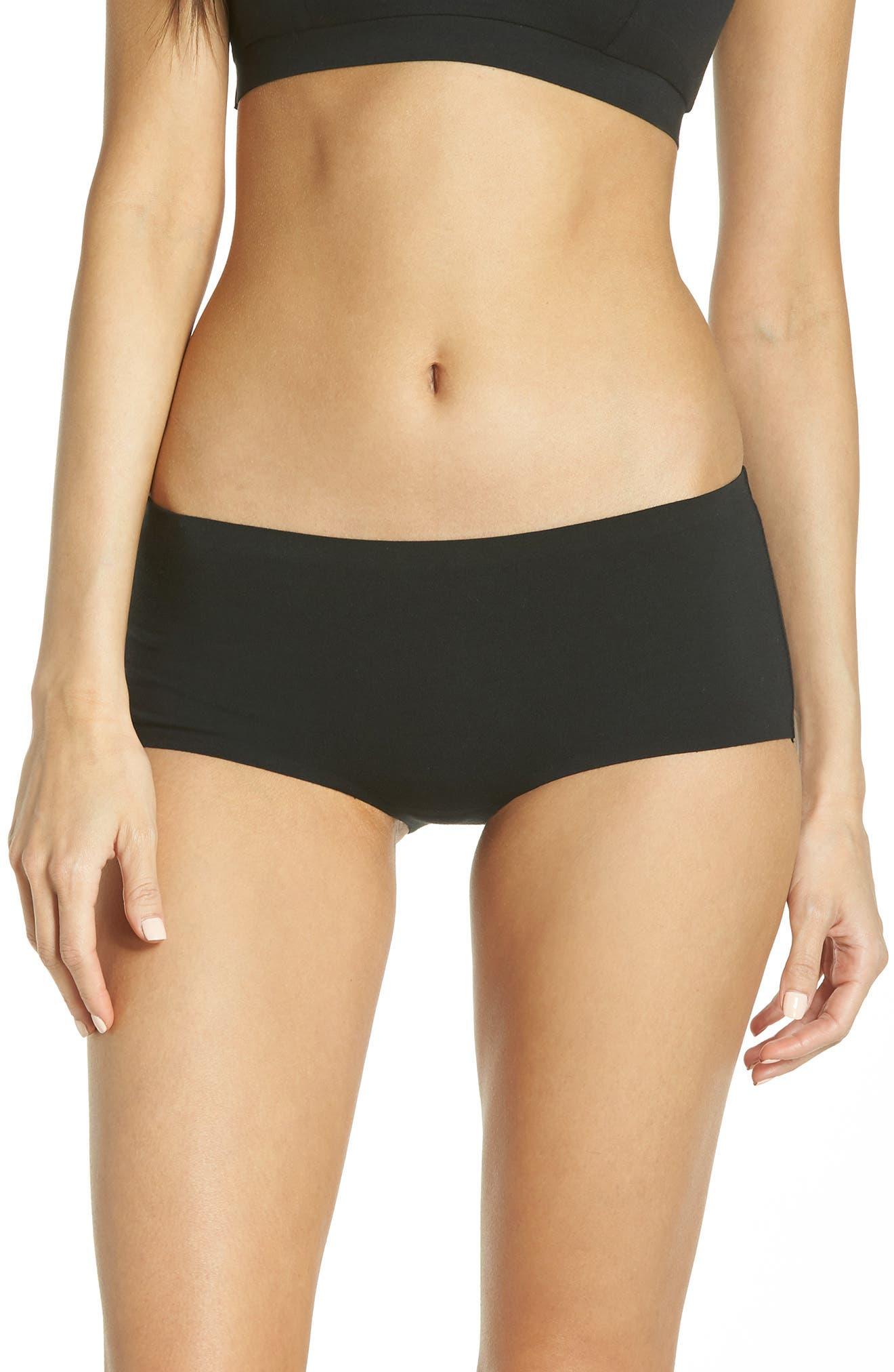 HONEYDEW INTIMATES Shay Hipster Panties, Main, color, BLACK