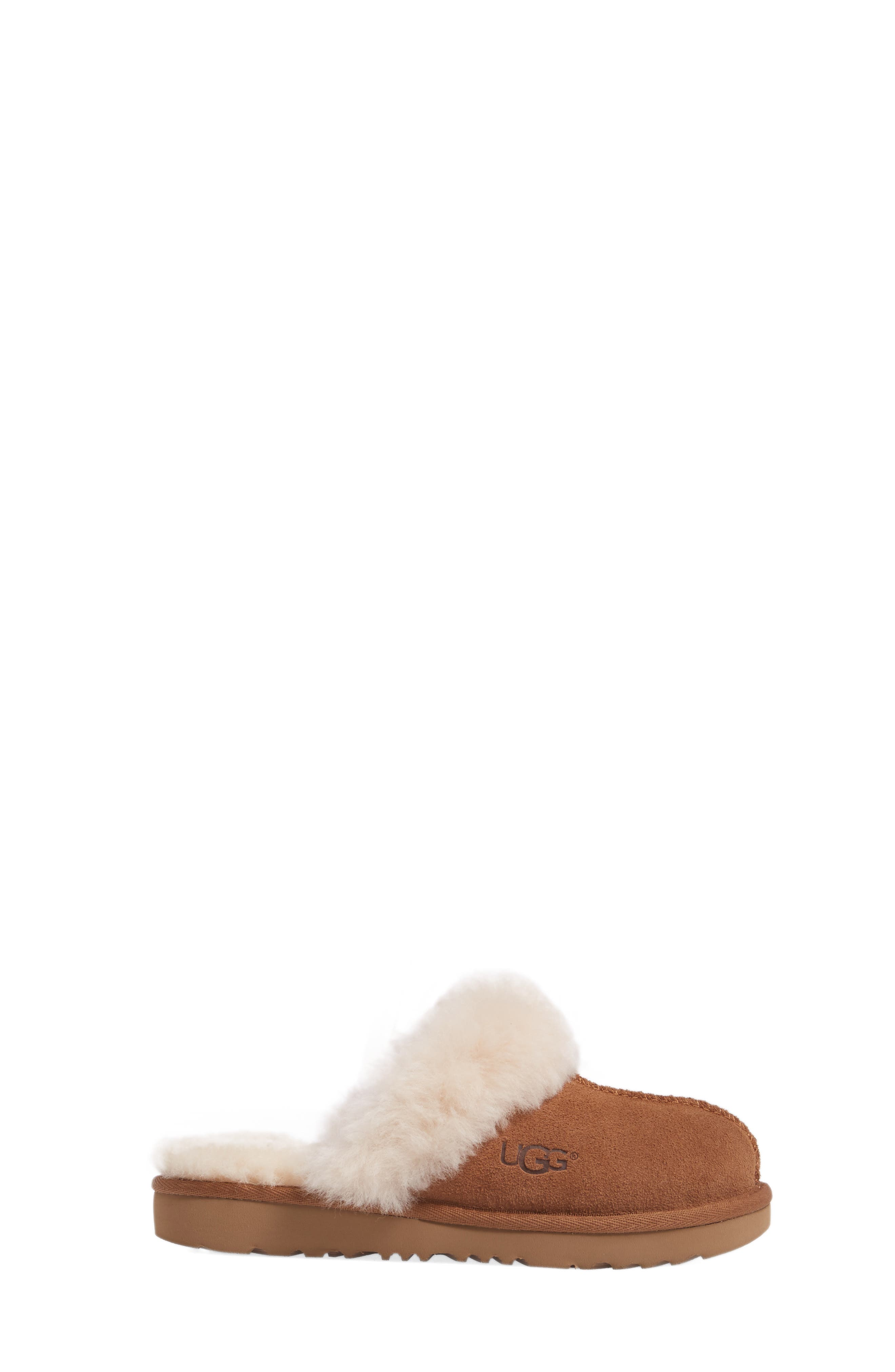UGG<SUP>®</SUP>, Cozy II Scuff Slipper, Alternate thumbnail 3, color, CHESTNUT