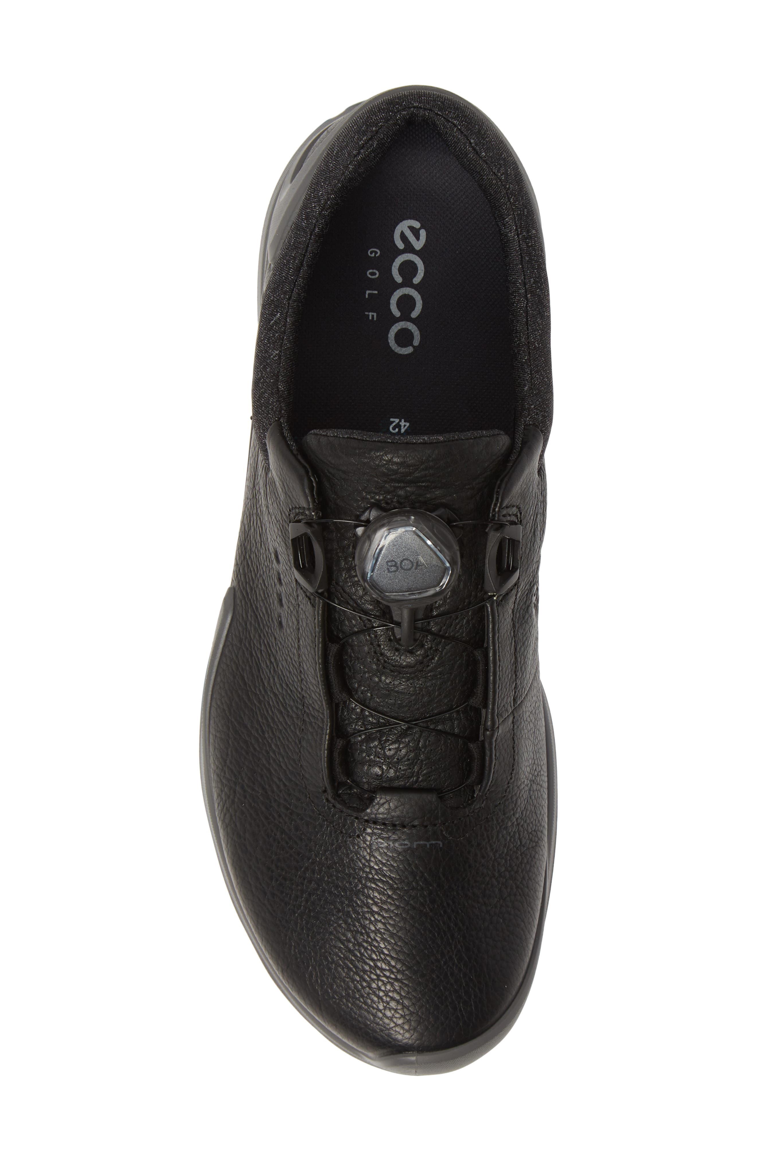 ECCO, BIOM<sup>®</sup> G 3 BOA<sup>®</sup> Gore-Tex<sup>®</sup> Golf Shoe, Alternate thumbnail 5, color, BLACK LEATHER