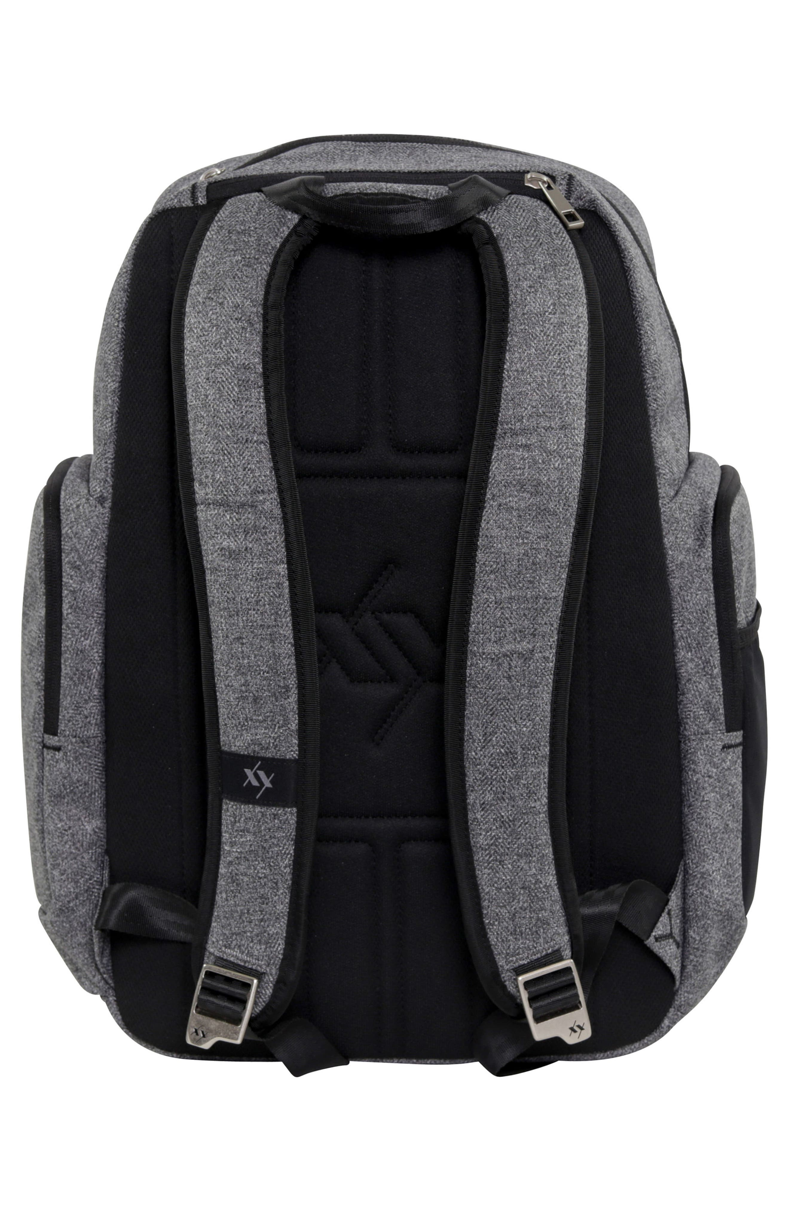 JU-JU-BE, XY Vector Diaper Backpack, Alternate thumbnail 2, color, GRAY MATTER