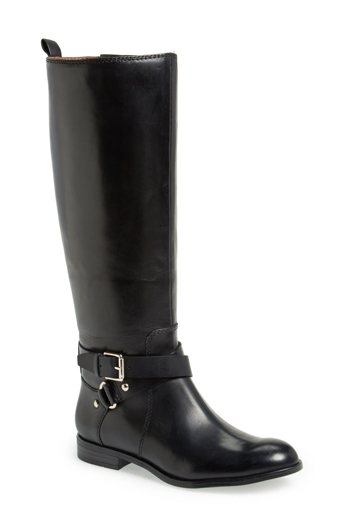 ENZO ANGIOLINI, 'Daniana' Leather Riding Boot, Main thumbnail 1, color, 001