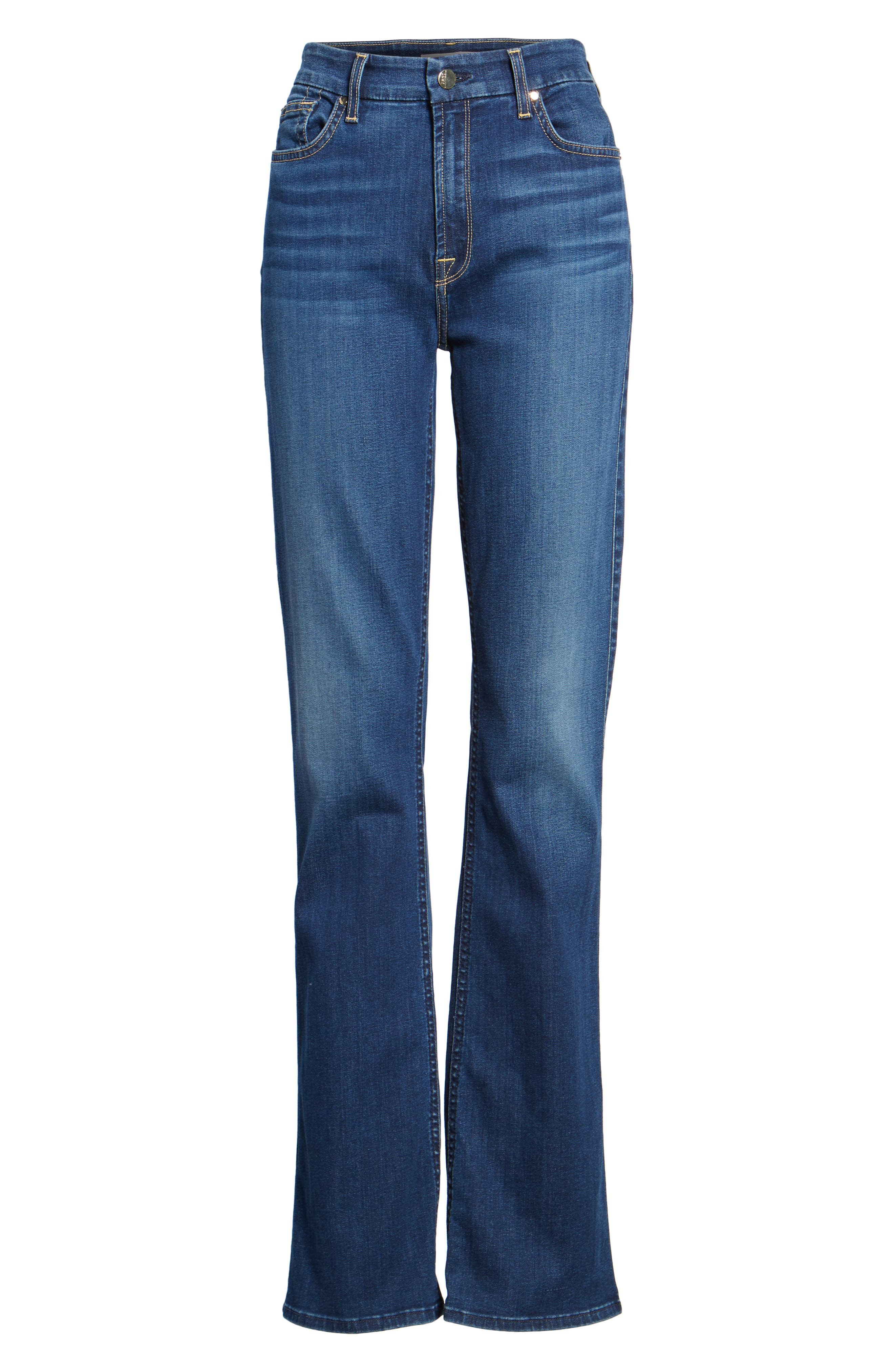 JEN7 BY 7 FOR ALL MANKIND, Slim Bootcut Jeans, Alternate thumbnail 6, color, RICHE TOUCH MEDIUM BLUE