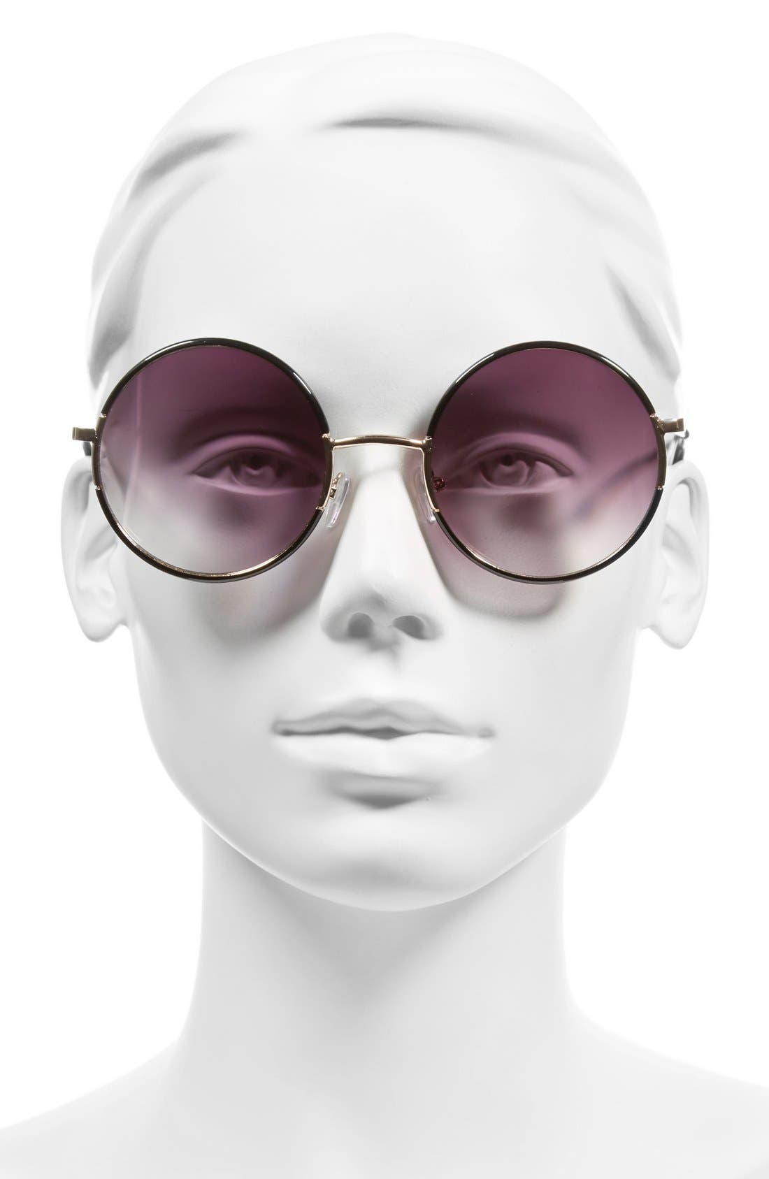 A.J. MORGAN, 'Oh Nice' 55mm Round Sunglasses, Alternate thumbnail 2, color, 001