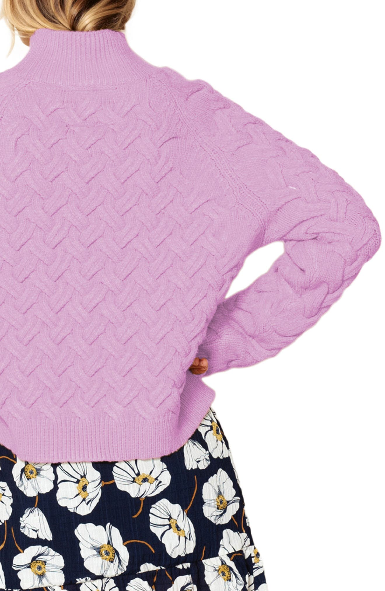 THE EAST ORDER, Adele Turtleneck Sweater, Alternate thumbnail 2, color, 534