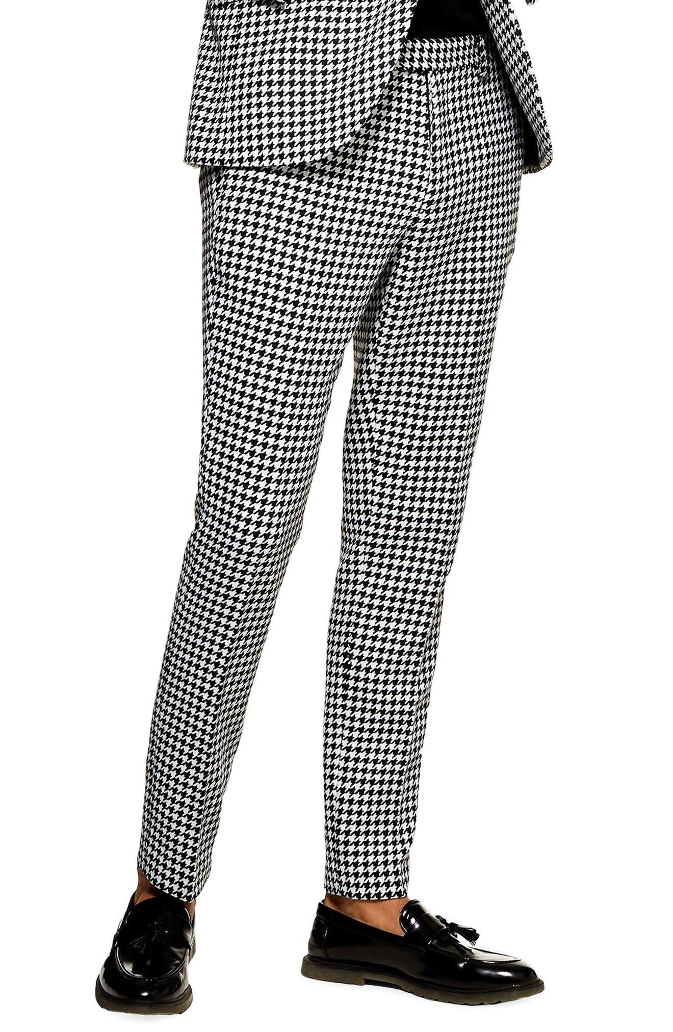 TOPMAN Roe Skinny Fit Trousers, Main, color, 001