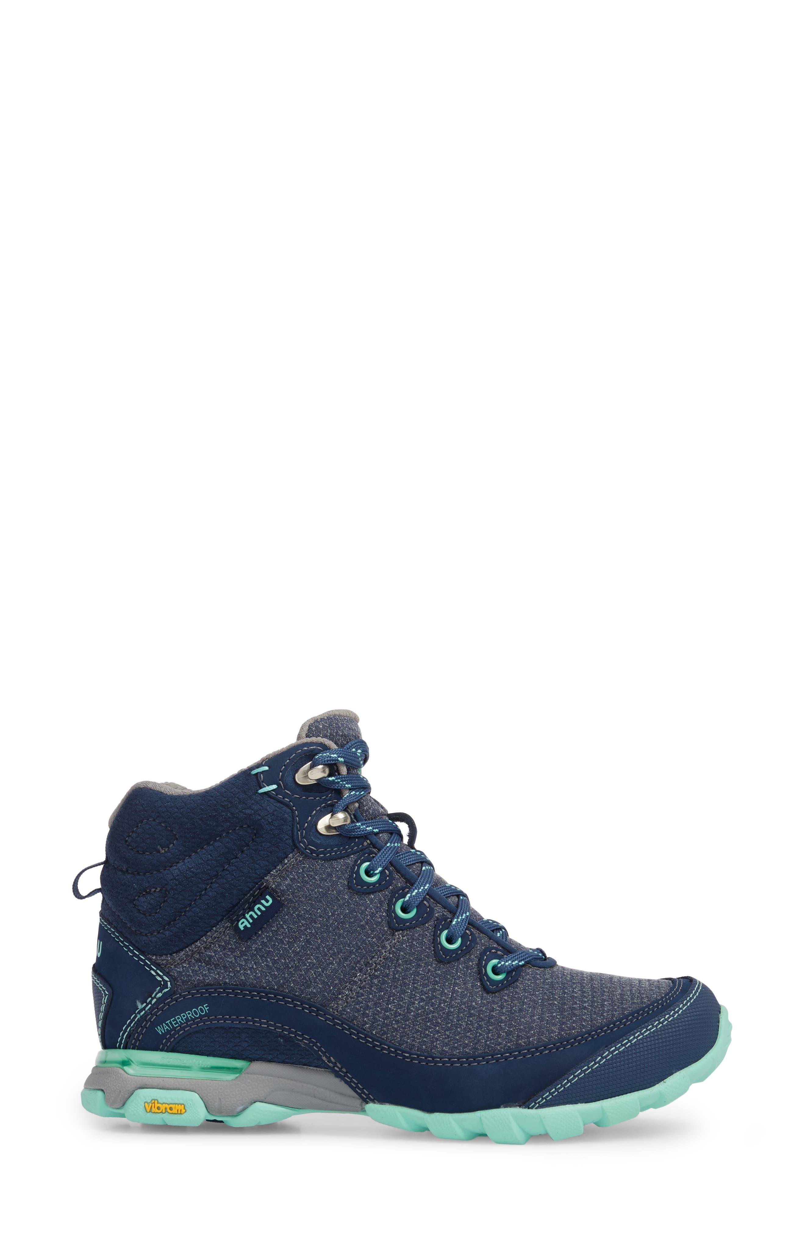 TEVA, Ahnu by Teva Sugarpine II Waterproof Hiking Boot, Alternate thumbnail 3, color, INSIGNIA BLUE