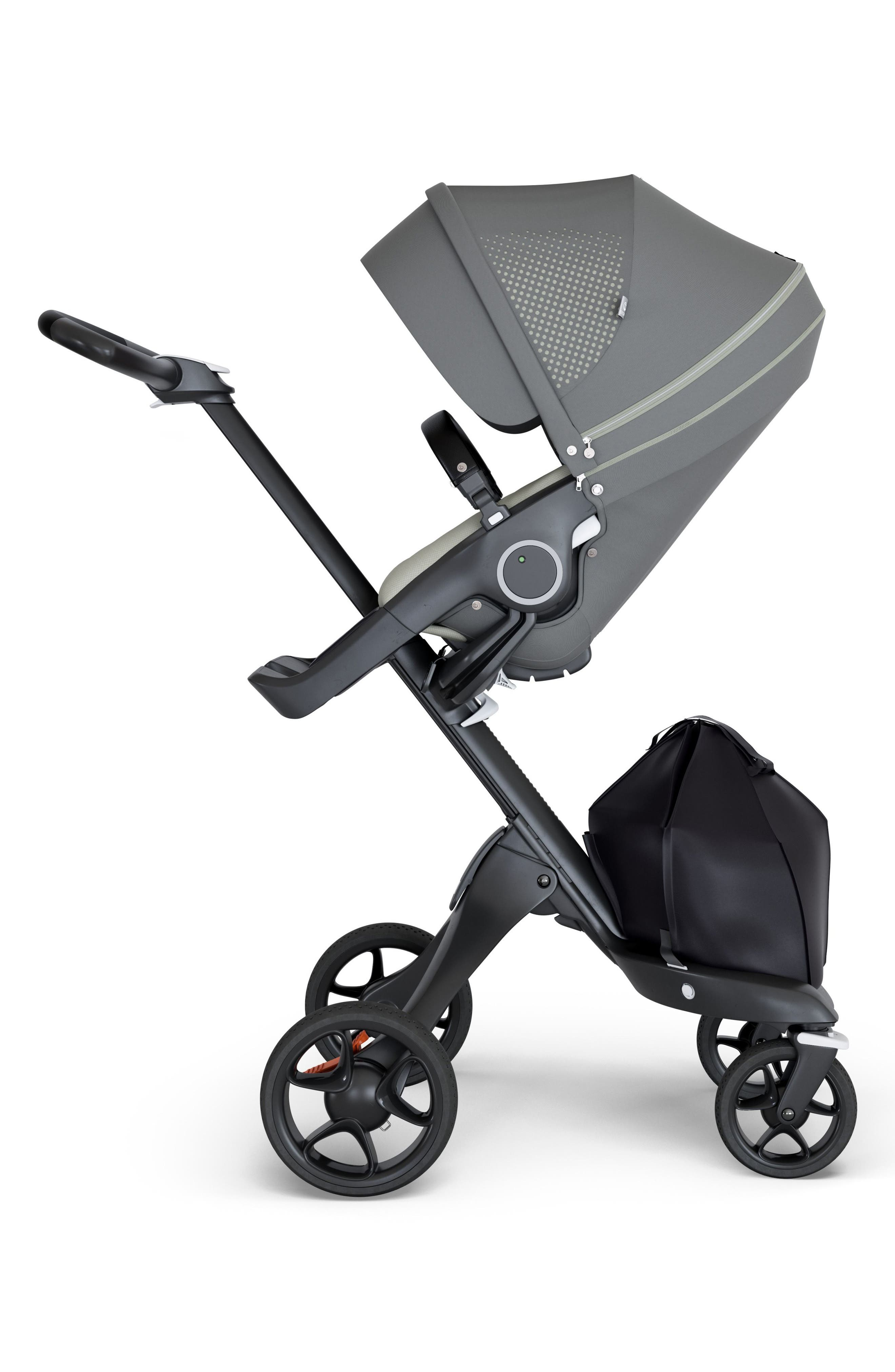 STOKKE, Xplory<sup>®</sup> Black Athleisure Stroller, Main thumbnail 1, color, ATHLEISURE GREEN
