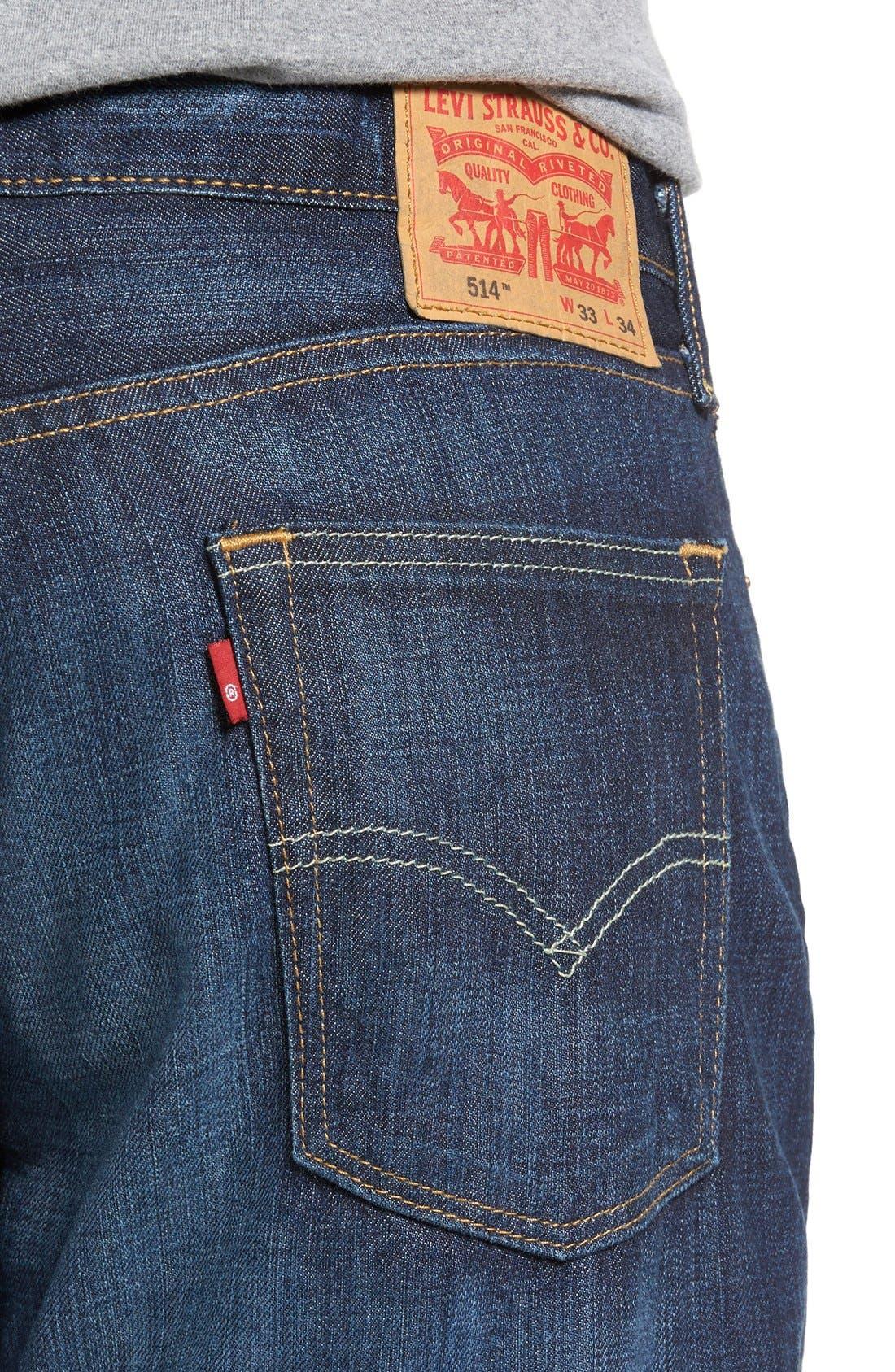LEVI'S<SUP>®</SUP>, 514<sup>™</sup> Straight Leg Jeans, Alternate thumbnail 4, color, SHOESTRING