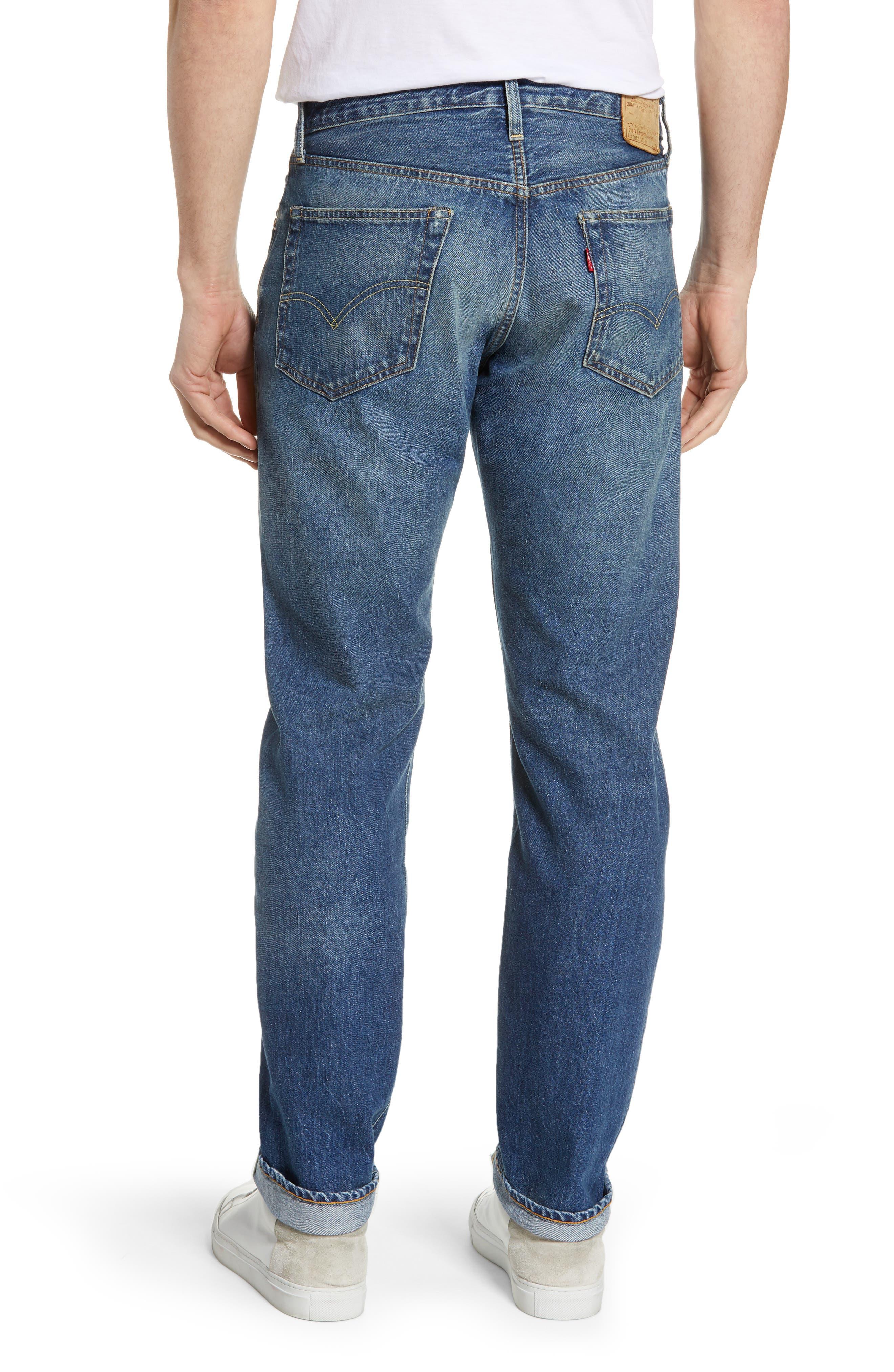 LEVI'S<SUP>®</SUP> VINTAGE CLOTHING, 1954 501<sup>®</sup> Straight Leg Jeans, Alternate thumbnail 2, color, PINWHEEL