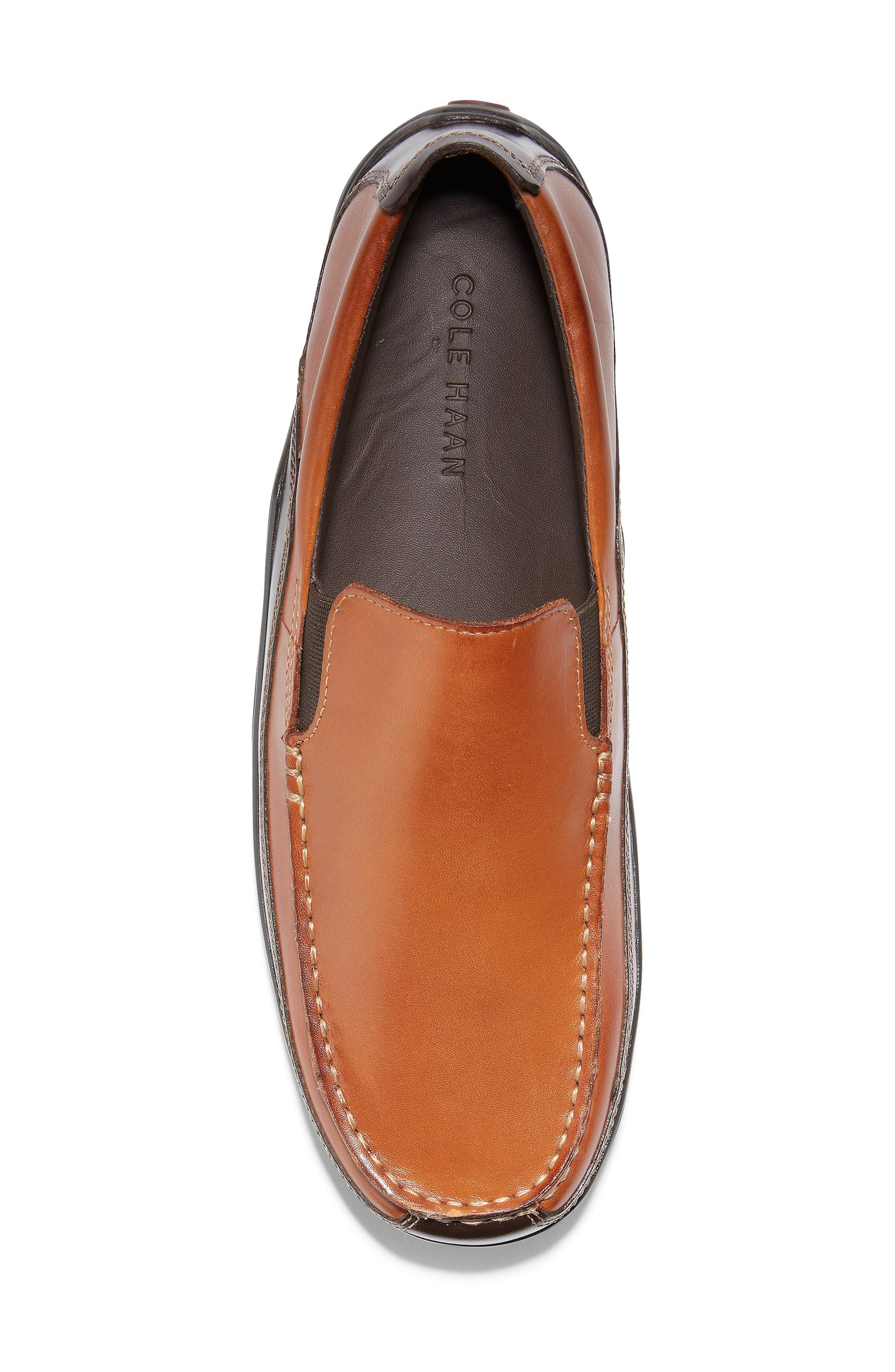 COLE HAAN, 'Tucker Venetian' Loafer, Alternate thumbnail 6, color, TAN
