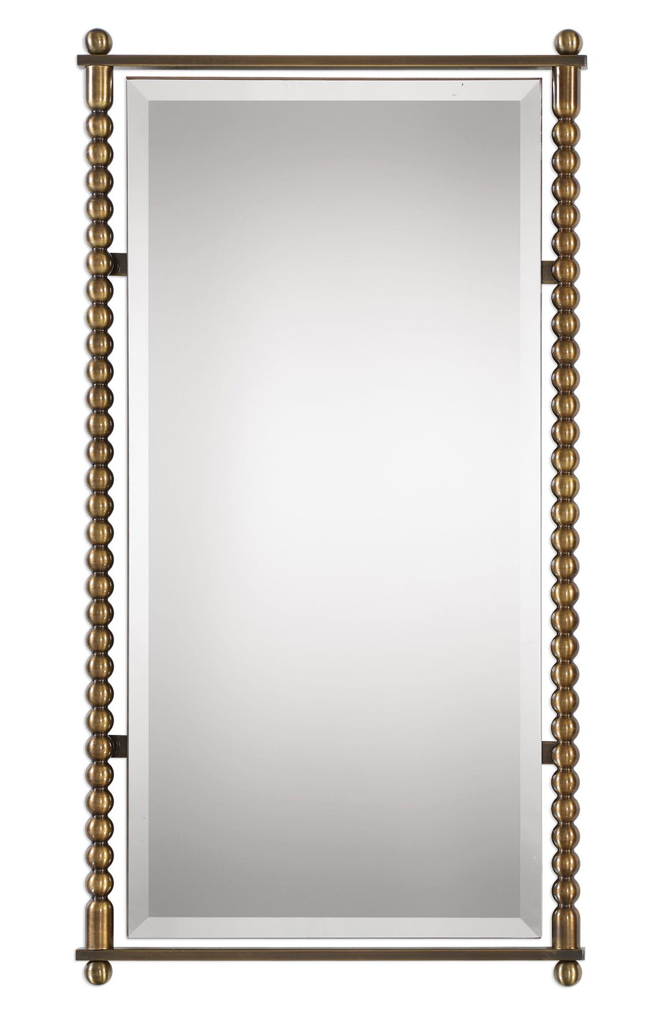 UTTERMOST, Rosabel Antique Brass Rectangular Mirror, Main thumbnail 1, color, PLATED ANTIQUE BRASS