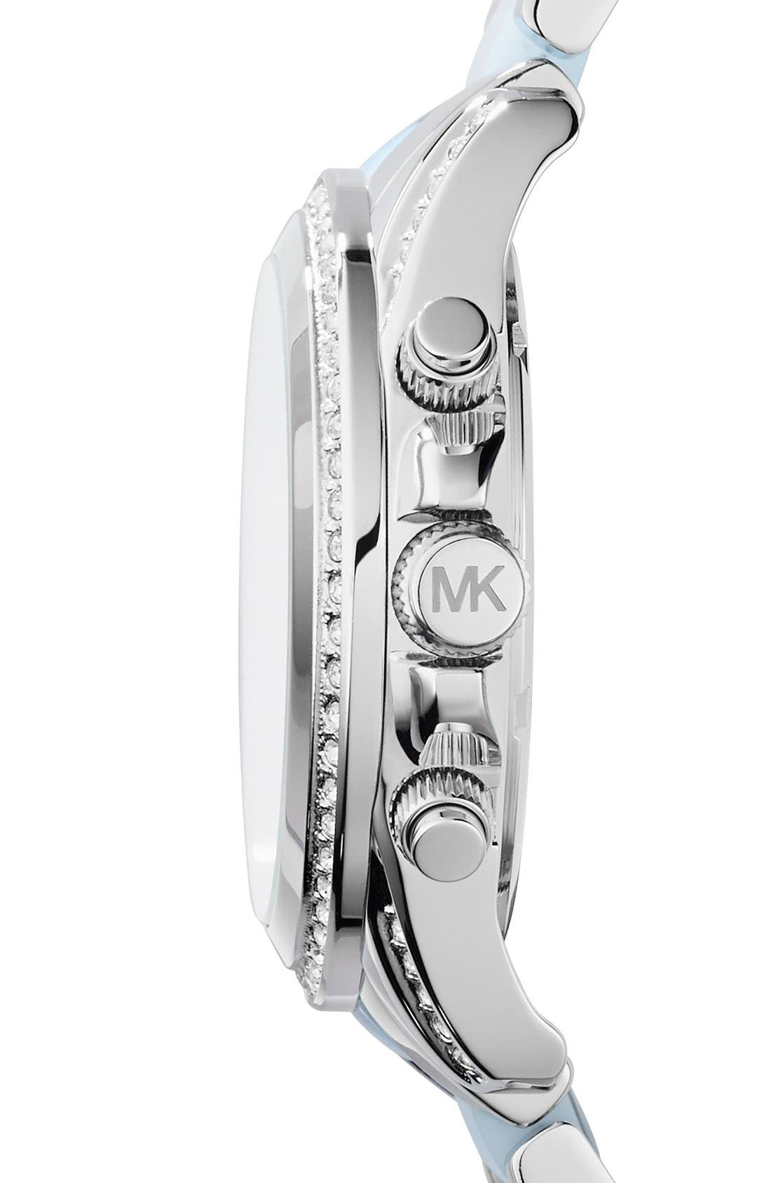 MICHAEL KORS, 'Blair' Crystal Bezel Two-Tone Bracelet Watch, 39mm, Alternate thumbnail 2, color, 040