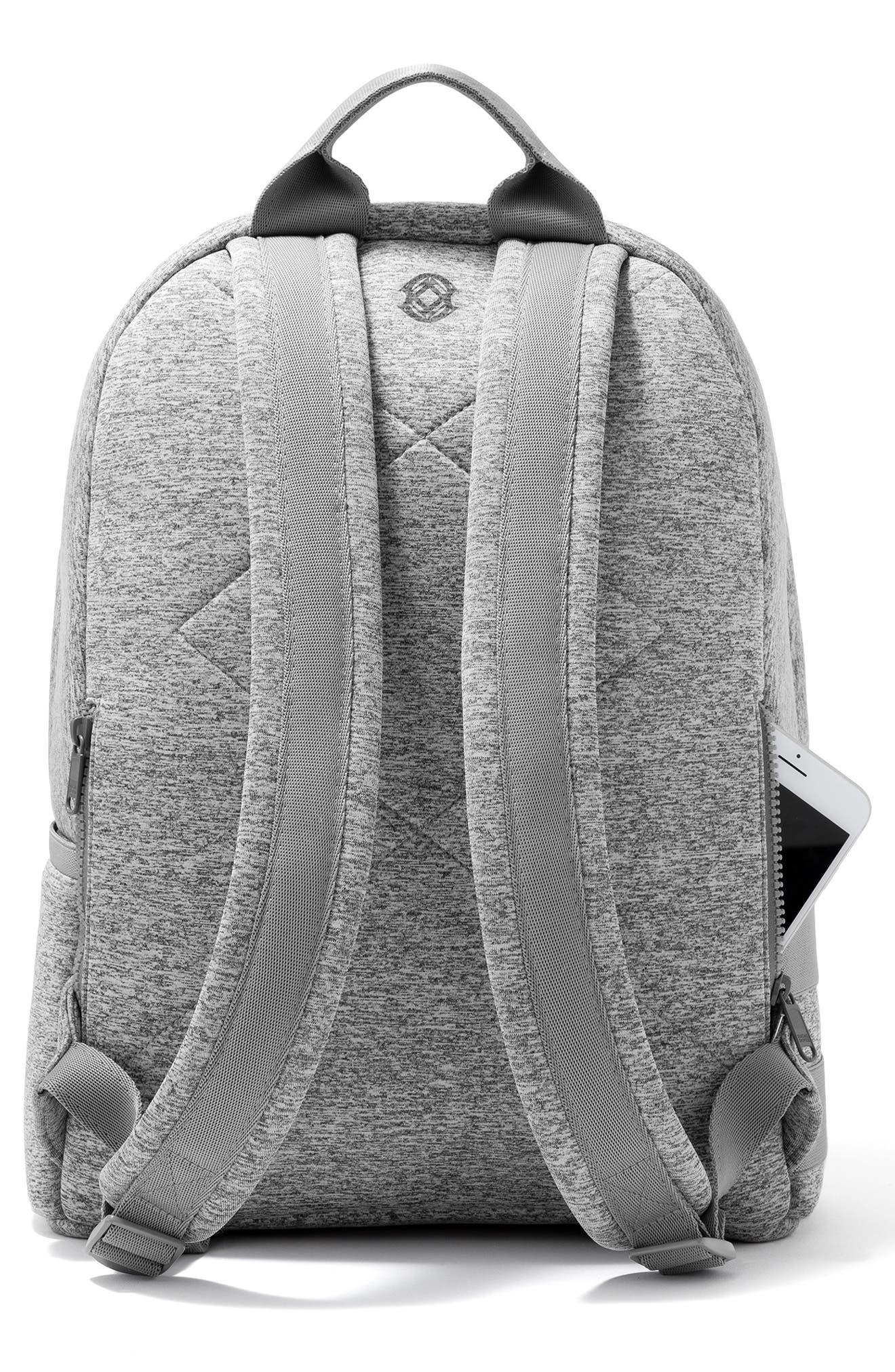DAGNE DOVER, 365 Dakota Neoprene Backpack, Alternate thumbnail 2, color, HEATHER GREY