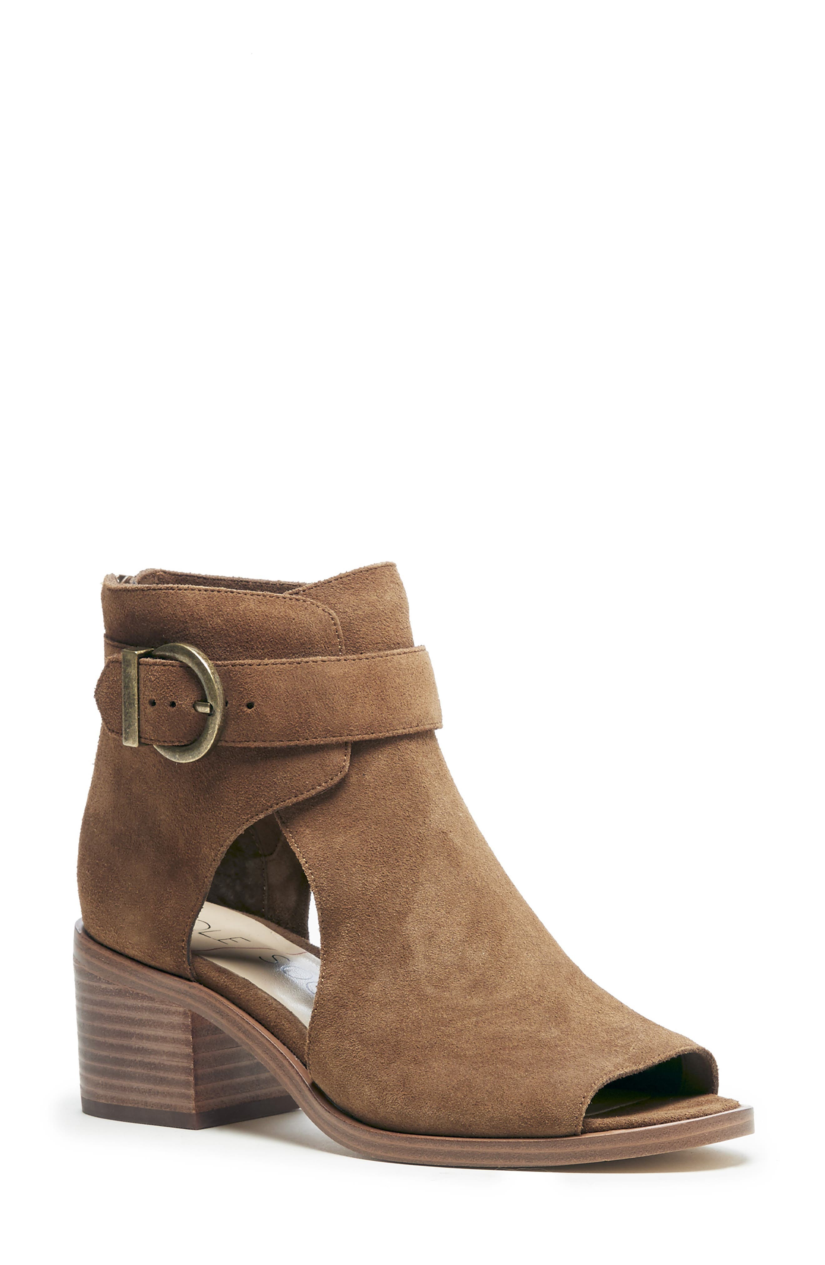 SOLE SOCIETY, Tracy Block Heel Sandal, Main thumbnail 1, color, TOBACCO SUEDE