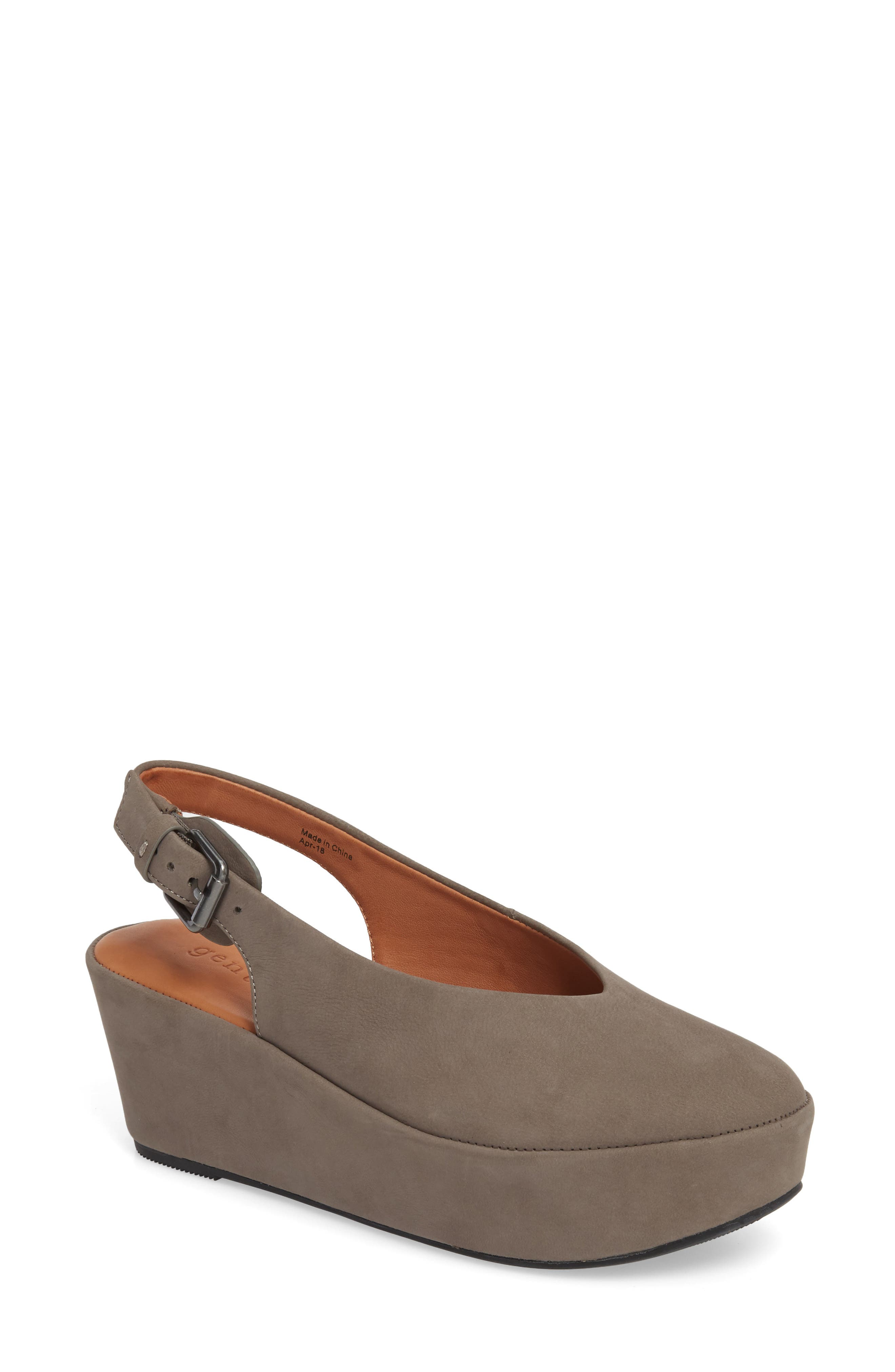 GENTLE SOULS BY KENNETH COLE Gentle Souls Nyomi Platform Sandal, Main, color, ELEPHANT NUBUCK