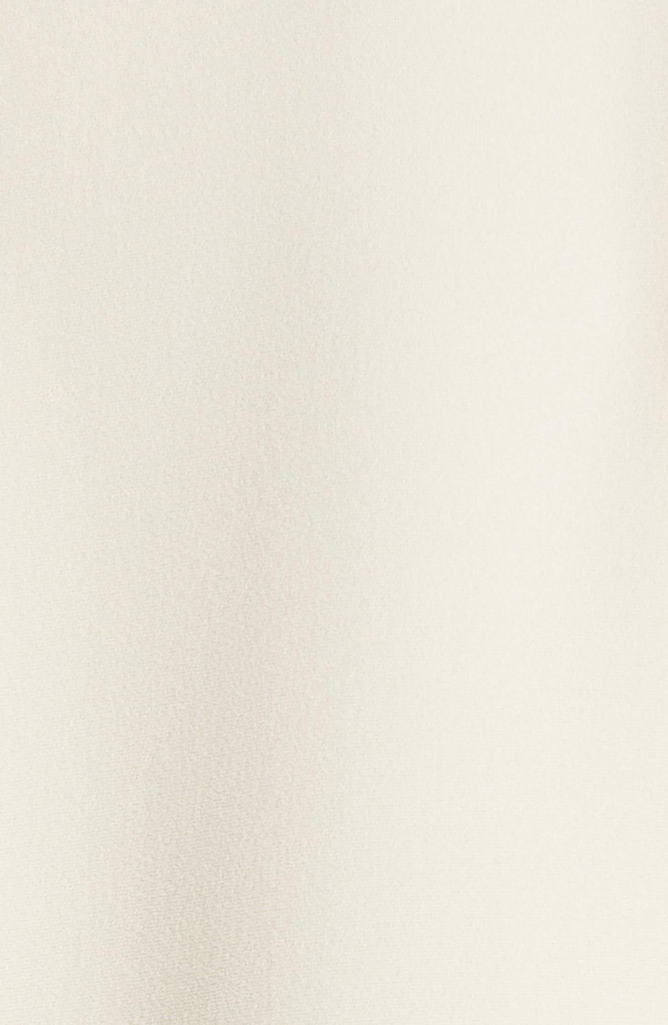 VICTORIA BECKHAM, Leather Trim Top, Alternate thumbnail 6, color, MILK/ BLACK