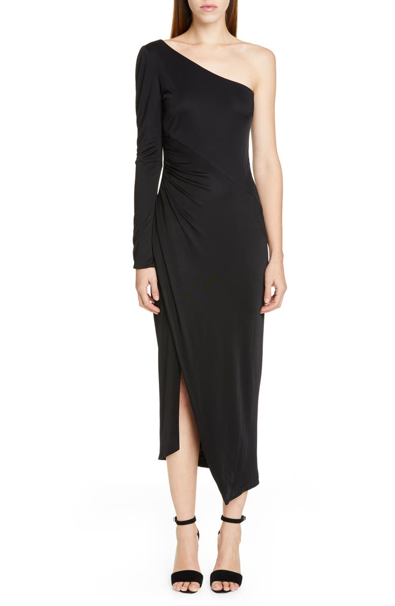 Galvan Dresses ONE-SHOULDER JERSEY DRESS