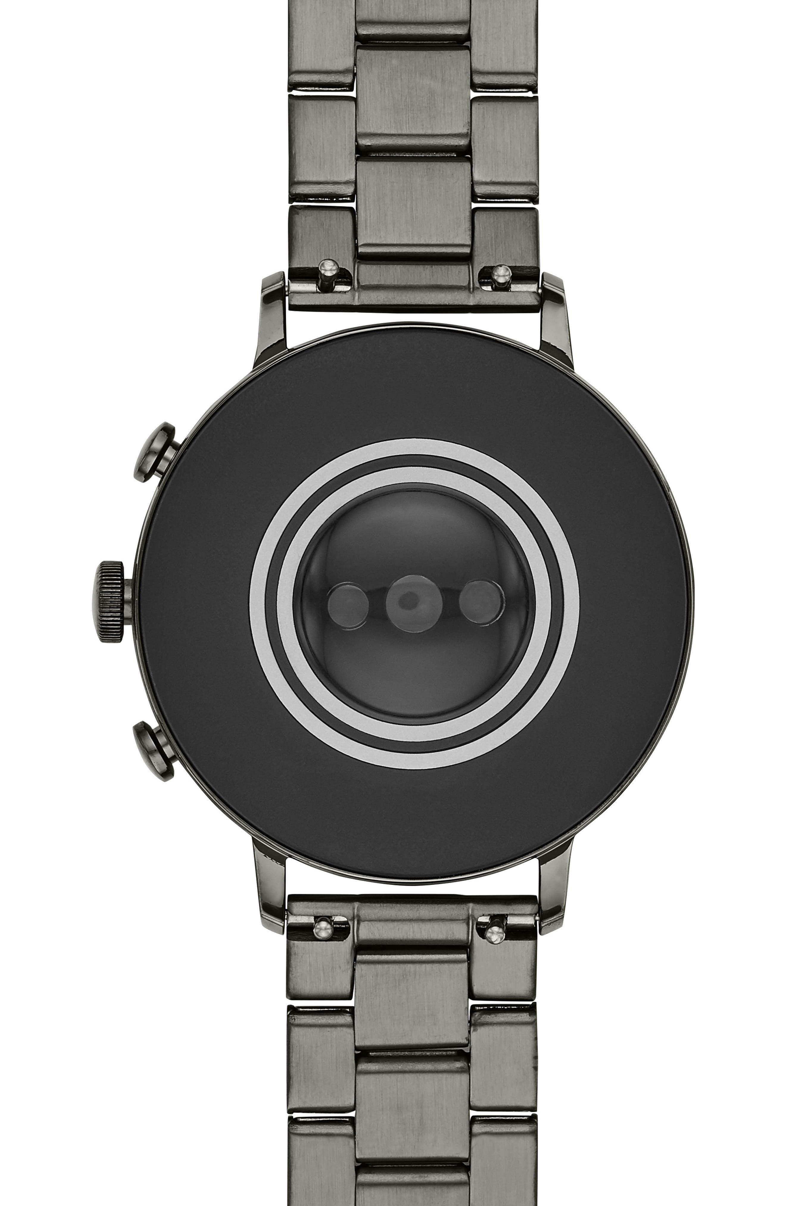 FOSSIL, Q Venture HR Bracelet Watch, 40mm, Alternate thumbnail 4, color, 020