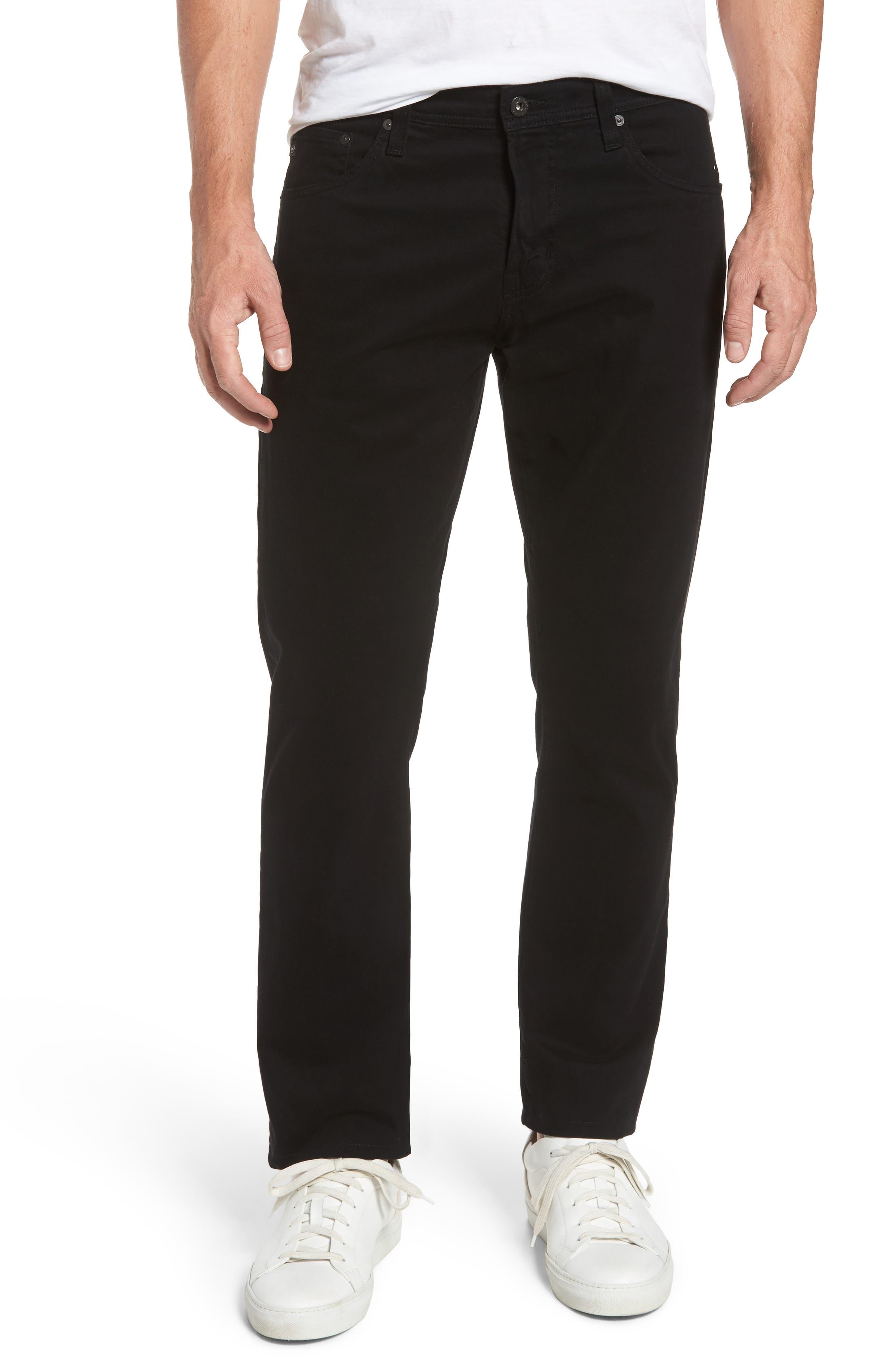 AG, Ives SUD Straight Leg Pants, Main thumbnail 1, color, 010