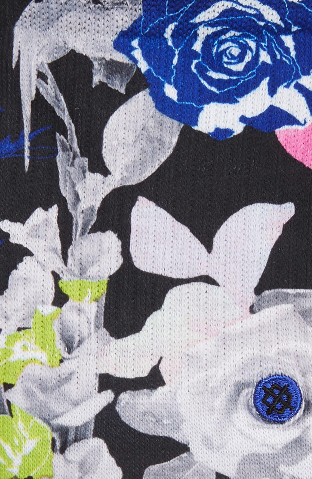 STANCE, Le Fleur Socks, Alternate thumbnail 2, color, BLACK
