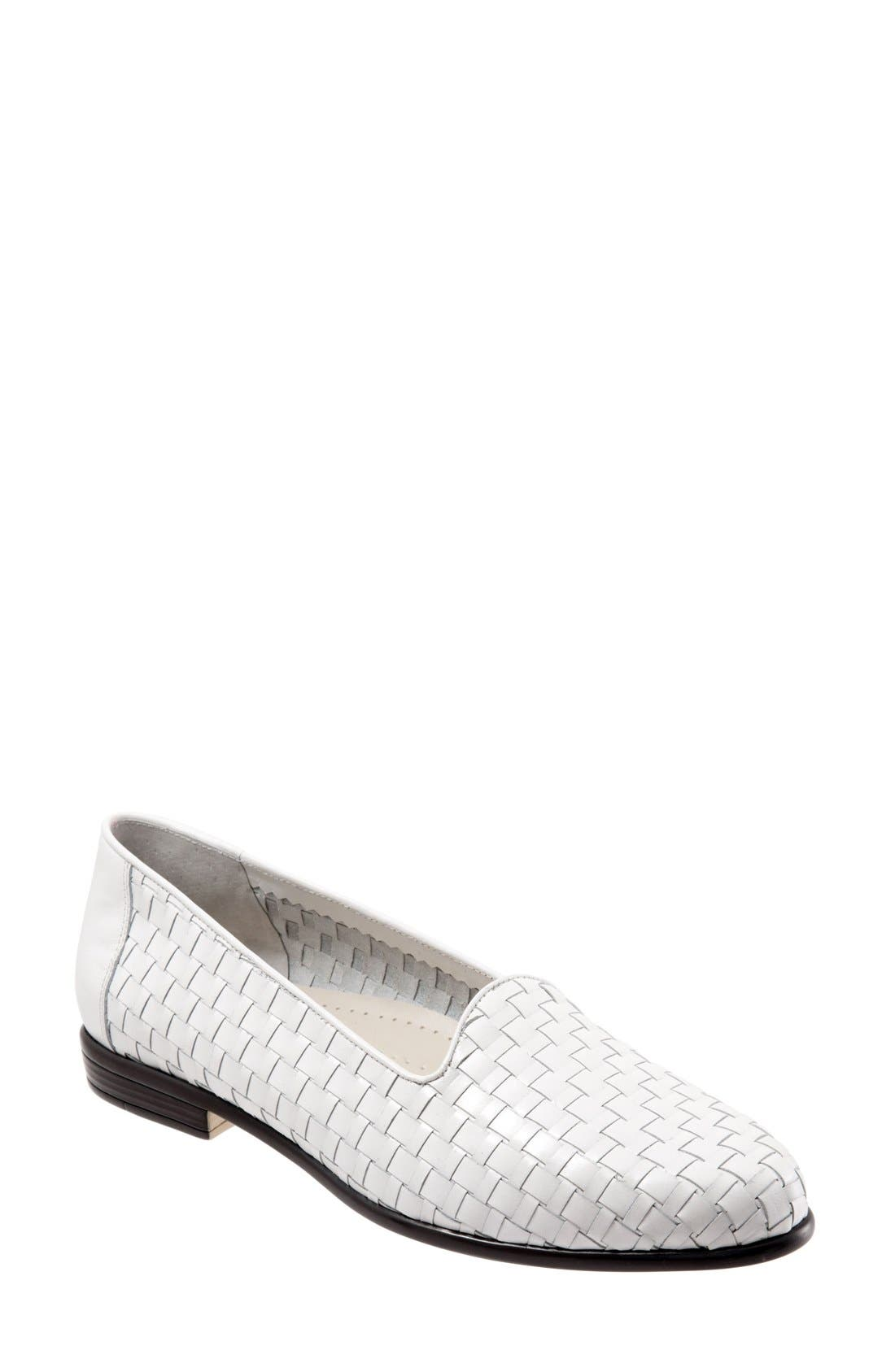 TROTTERS Slip-On, Main, color, WHITE