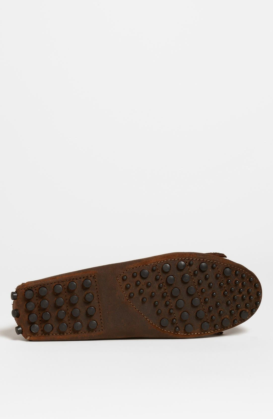 MINNETONKA, Suede Driving Shoe, Alternate thumbnail 2, color, BROWN
