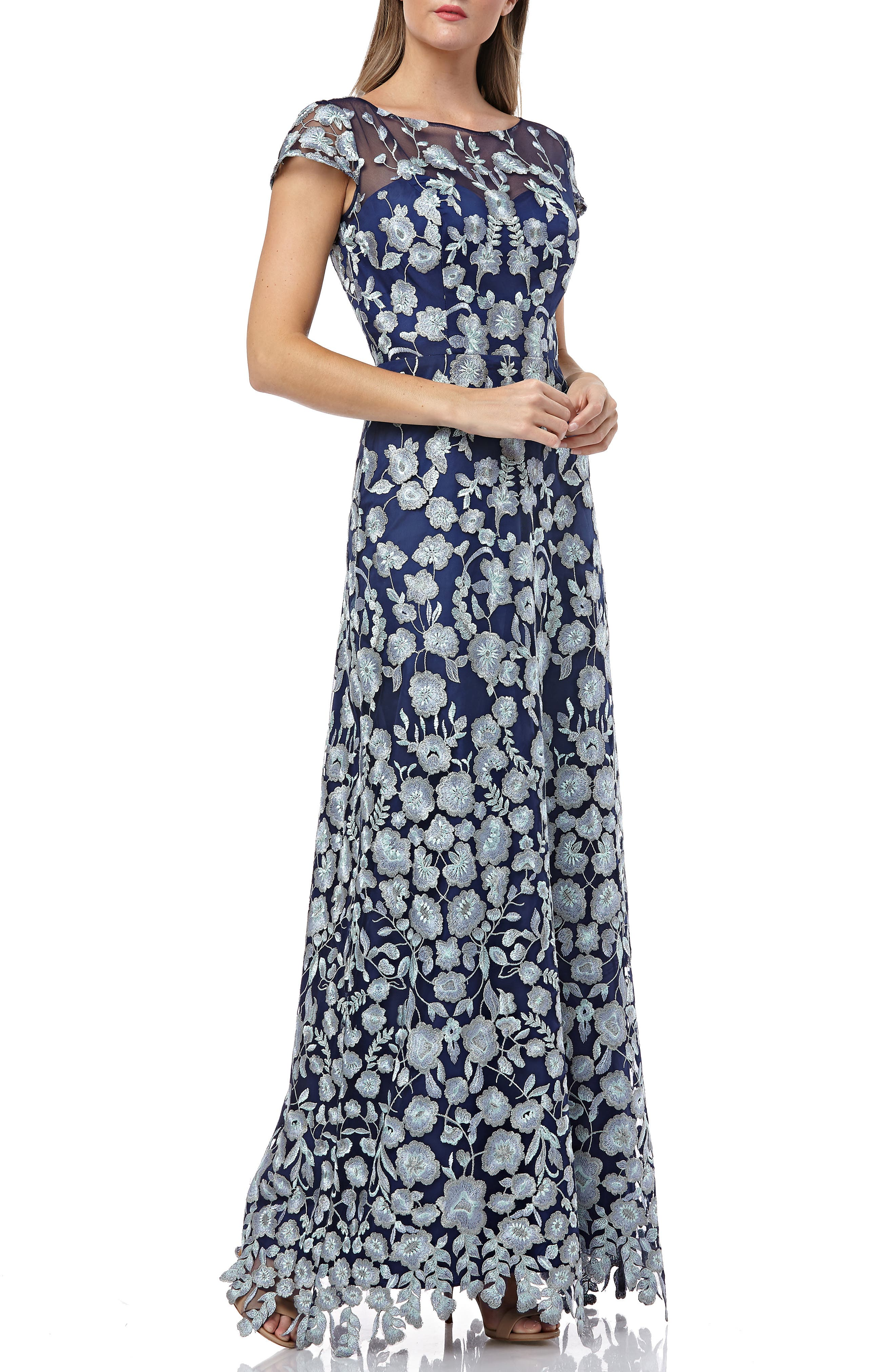 fff0f50de8 Js Collections Embroidered Lace Gown
