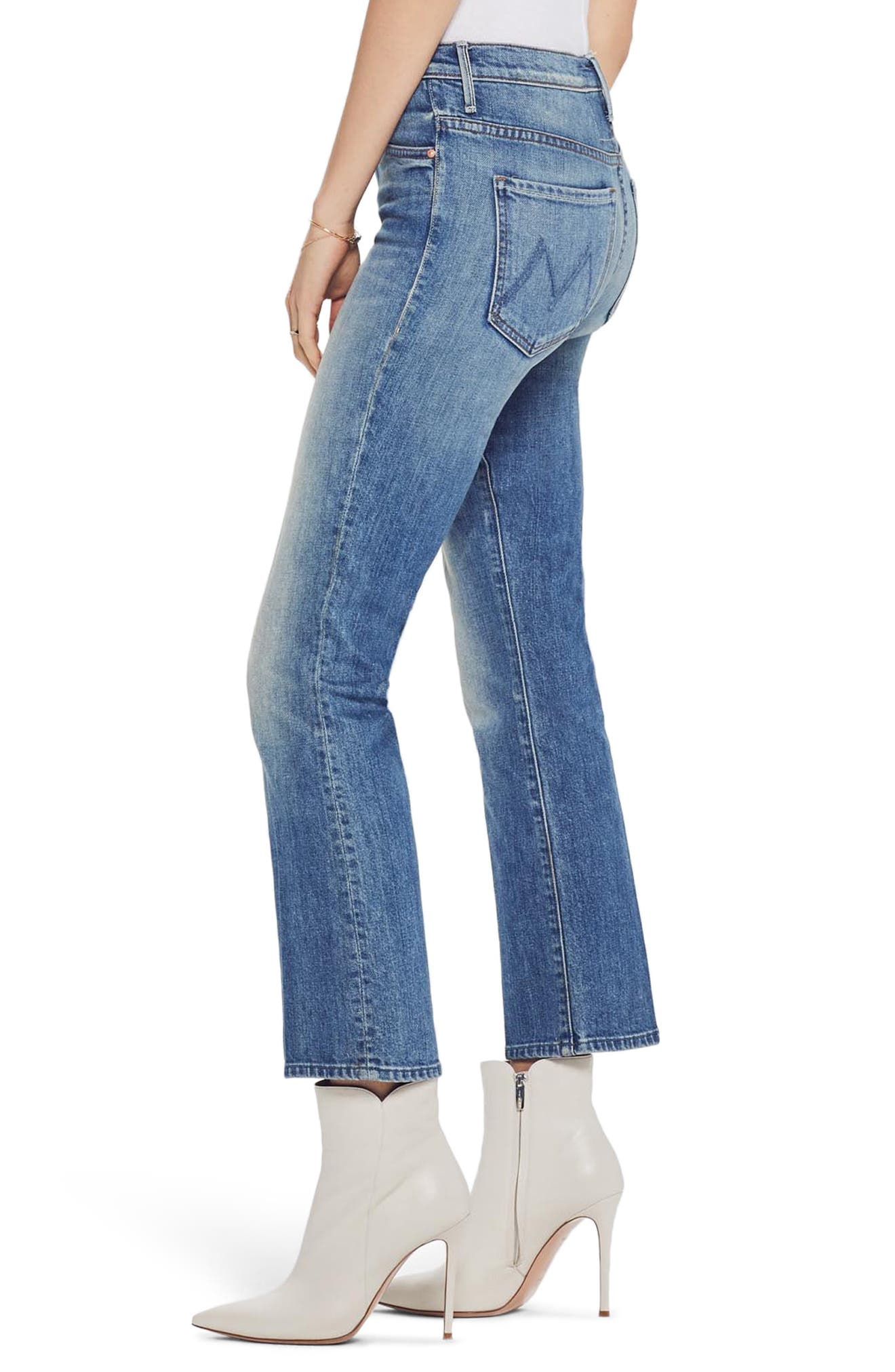 MOTHER, The Insider Ankle Bootcut Jeans, Alternate thumbnail 4, color, 421