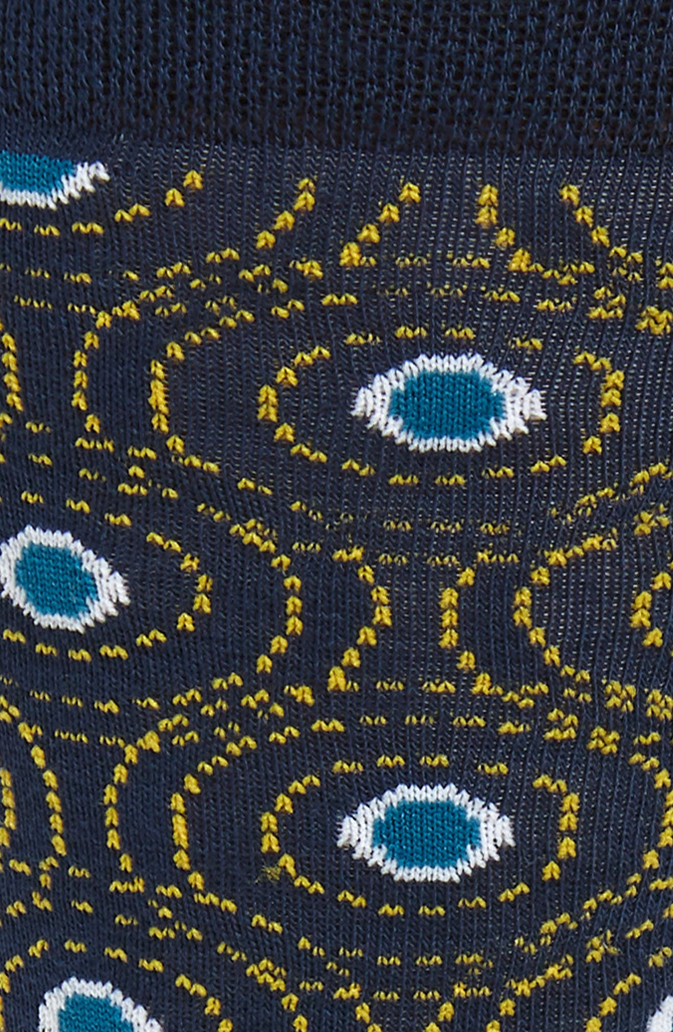 TED BAKER LONDON, Geo Circle Socks, Alternate thumbnail 2, color, NAVY