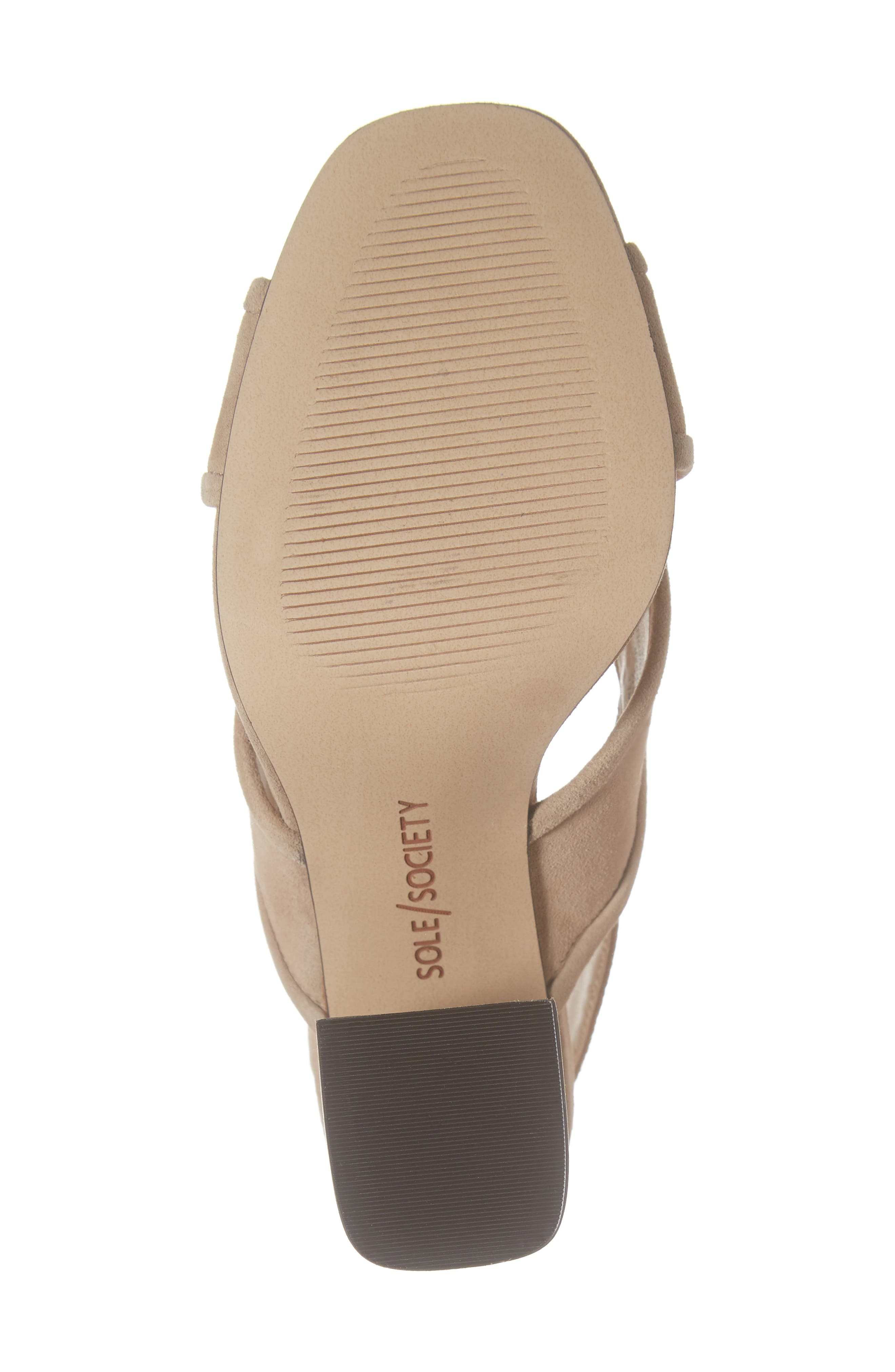 SOLE SOCIETY, Joree Slingback Sandal, Alternate thumbnail 6, color, DUSTED TAUPE SUEDE