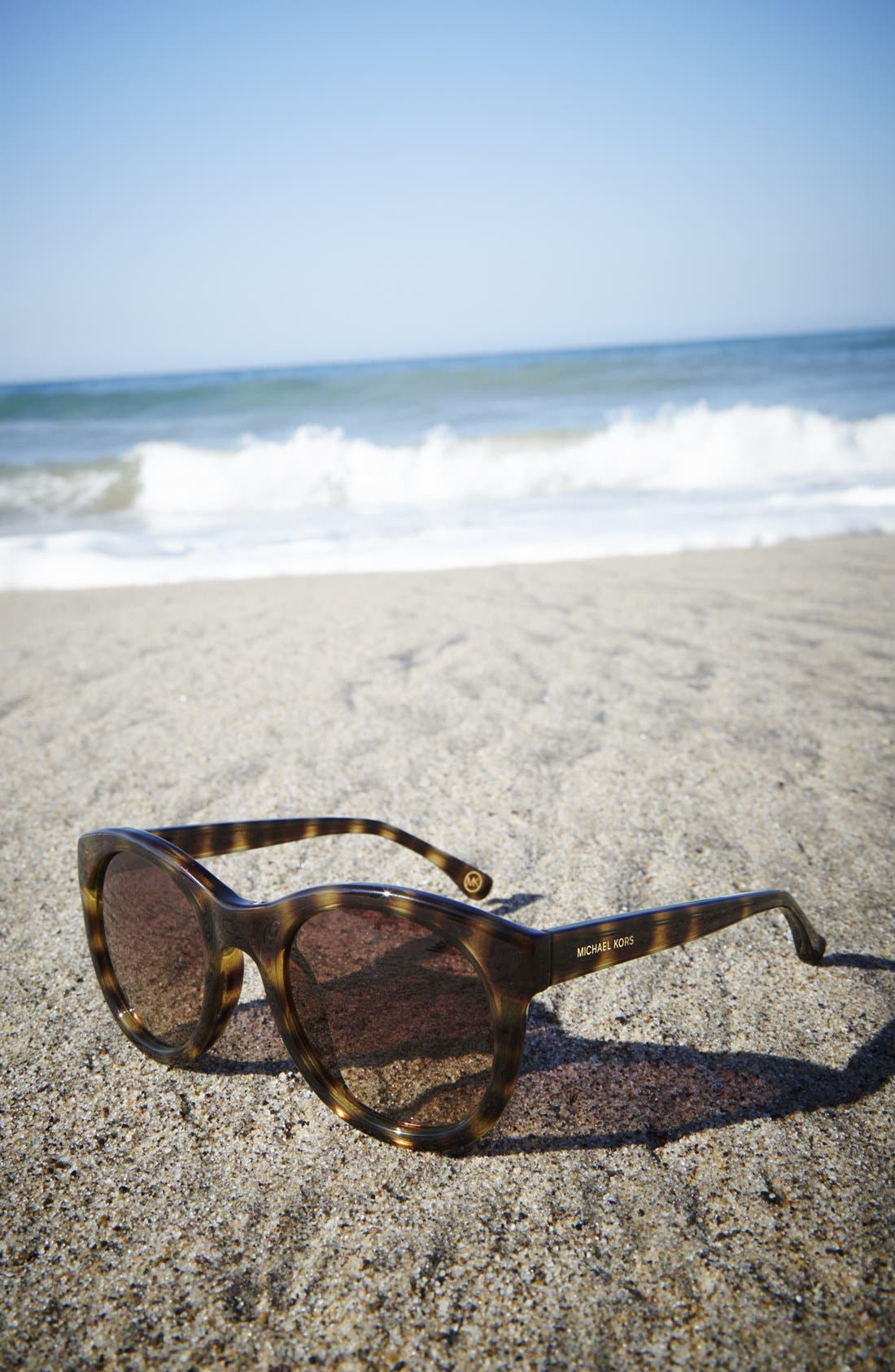 MICHAEL MICHAEL KORS, 'Rosie' 49mm Sunglasses, Alternate thumbnail 4, color, 001