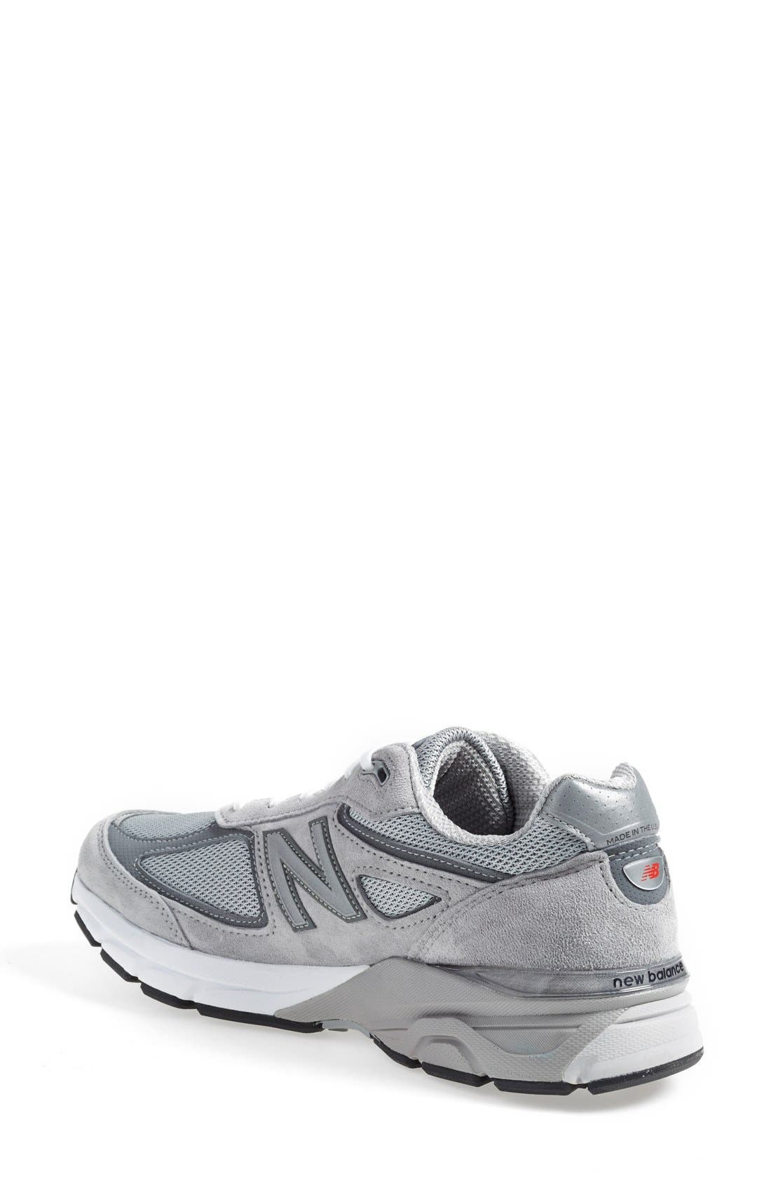 NEW BALANCE, '990' Running Shoe, Alternate thumbnail 2, color, COOL GREY