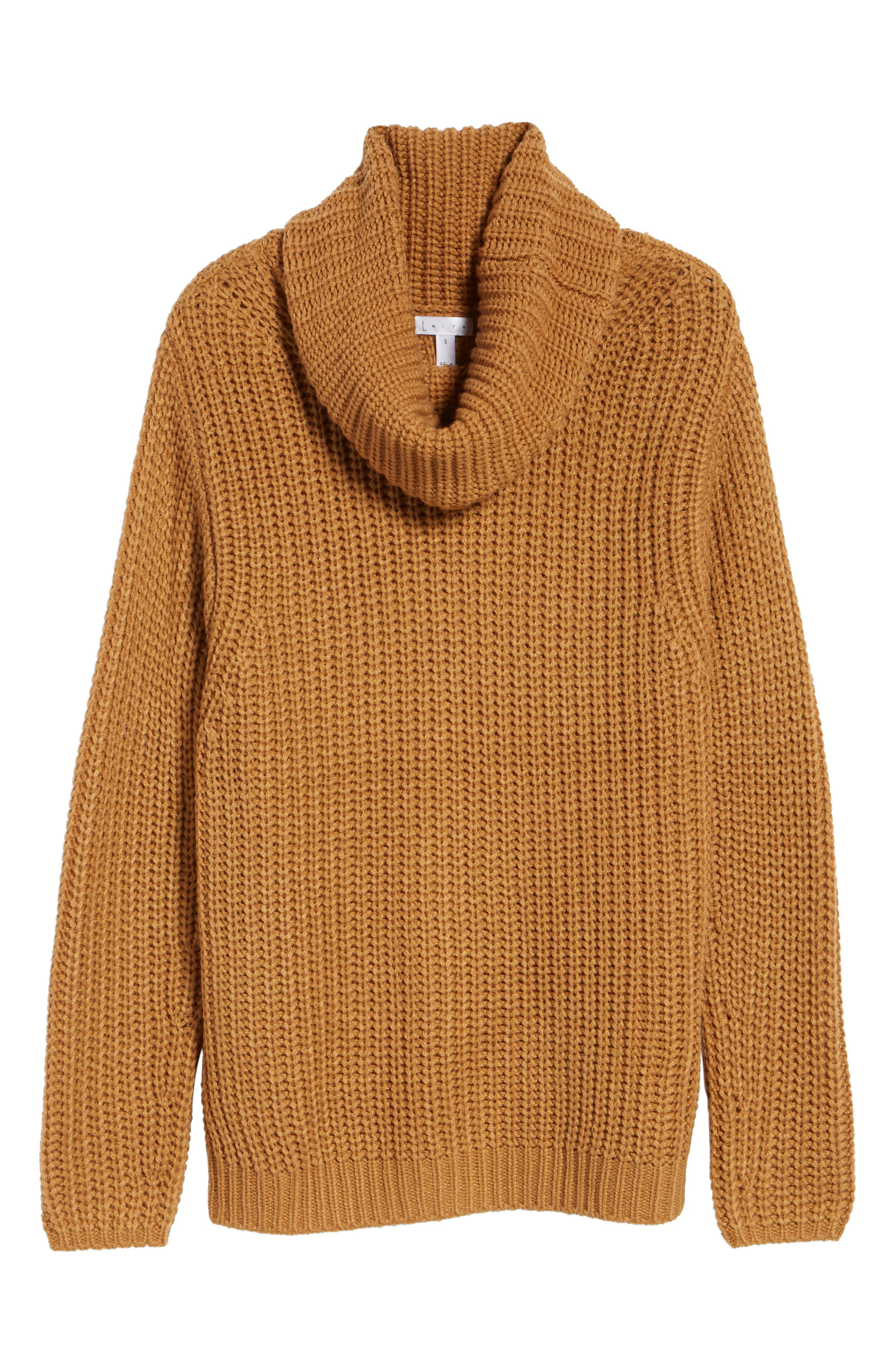 LEITH, Oversize Turtleneck Sweater, Alternate thumbnail 6, color, 235