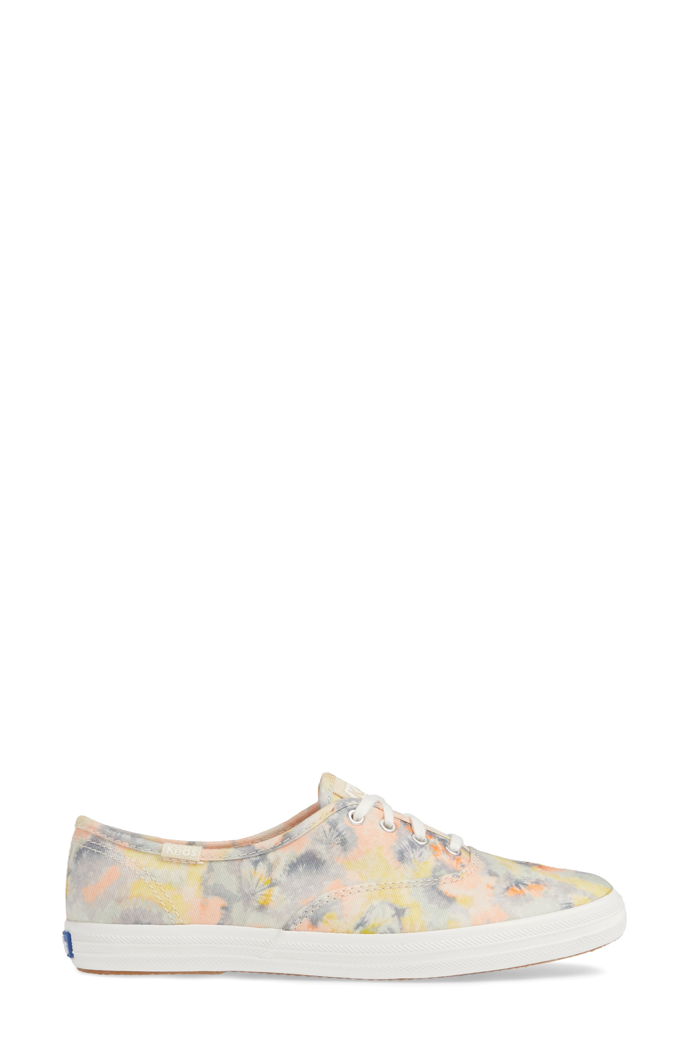 KEDS<SUP>®</SUP>, Champion Tie Dye Sneaker, Alternate thumbnail 3, color, PINK MULTI