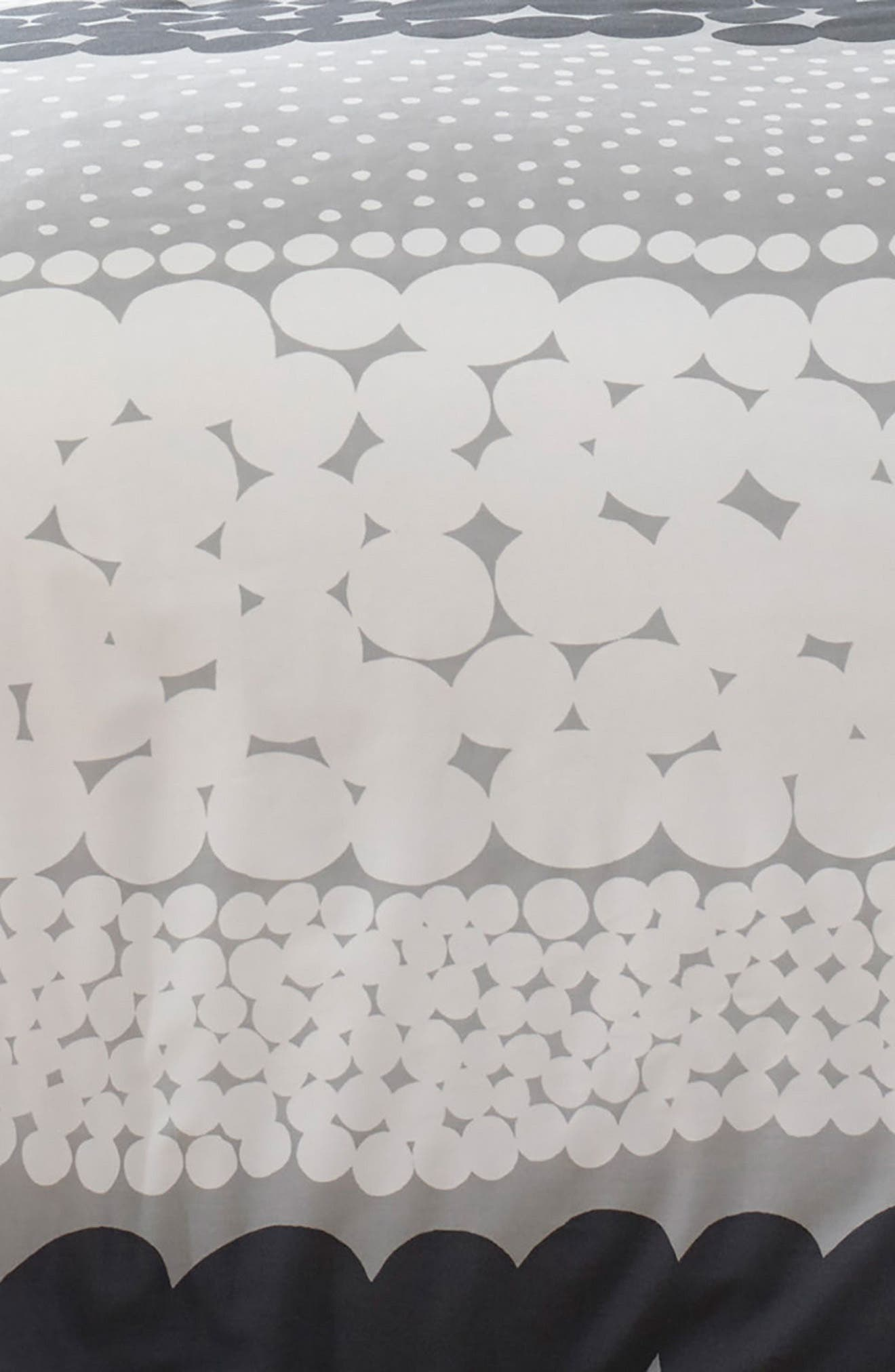 MARIMEKKO, Jurmo Duvet Cover & Sham Set, Alternate thumbnail 2, color, DARK GREY