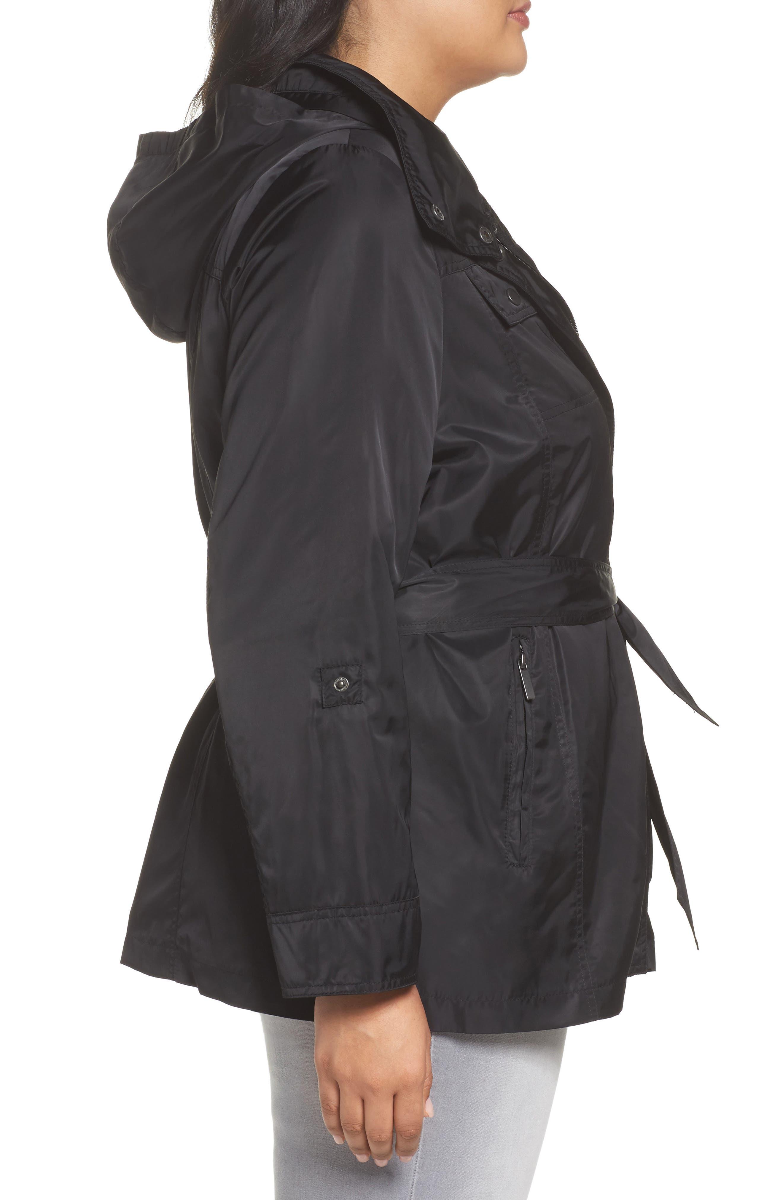 HALOGEN<SUP>®</SUP>, Belted Lightweight Jacket, Alternate thumbnail 4, color, BLACK