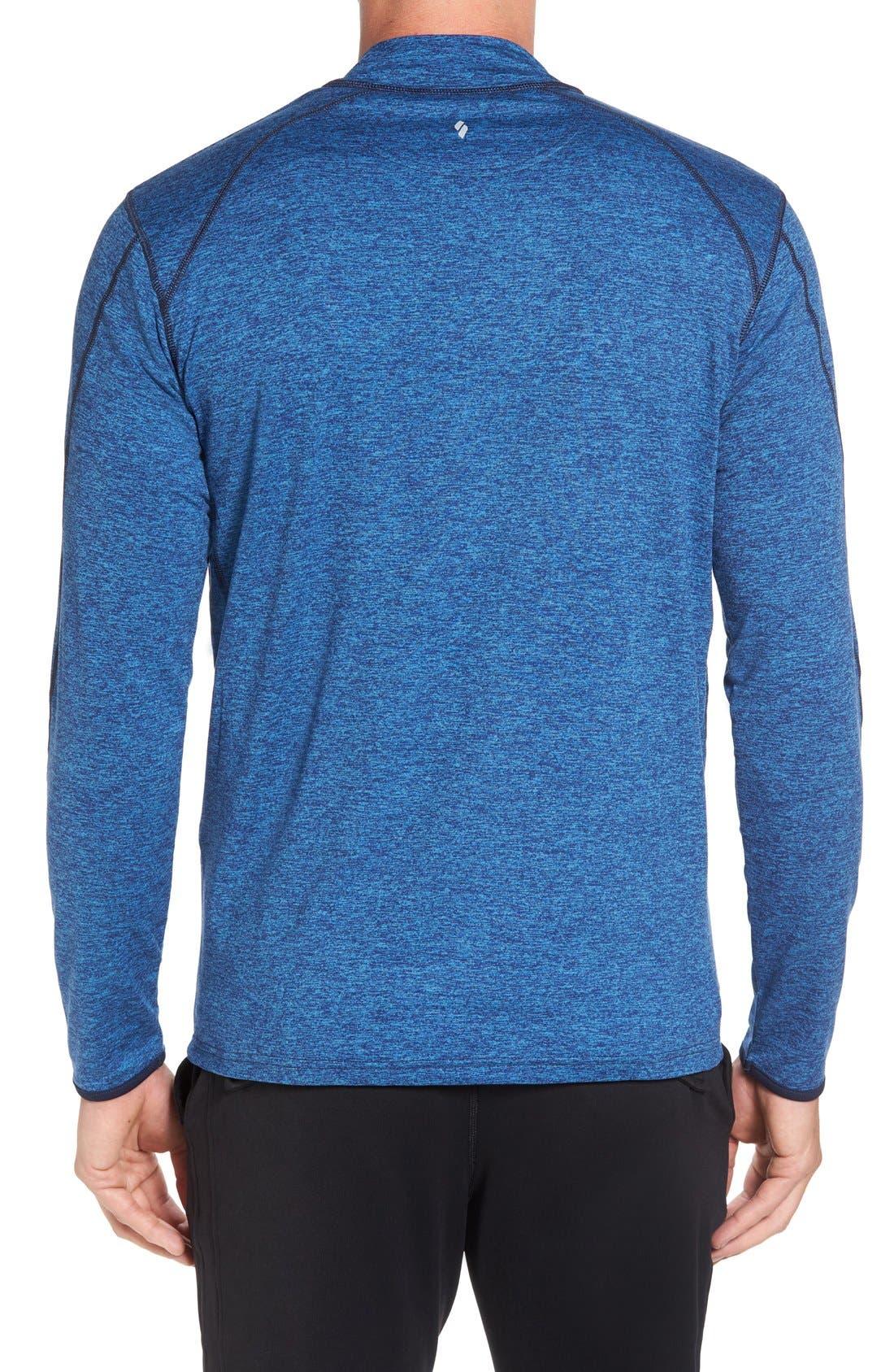 SODO, 'Elevate' Moisture Wicking Stretch Quarter Zip Pullover, Alternate thumbnail 4, color, OCEAN BLUE/ NAVY