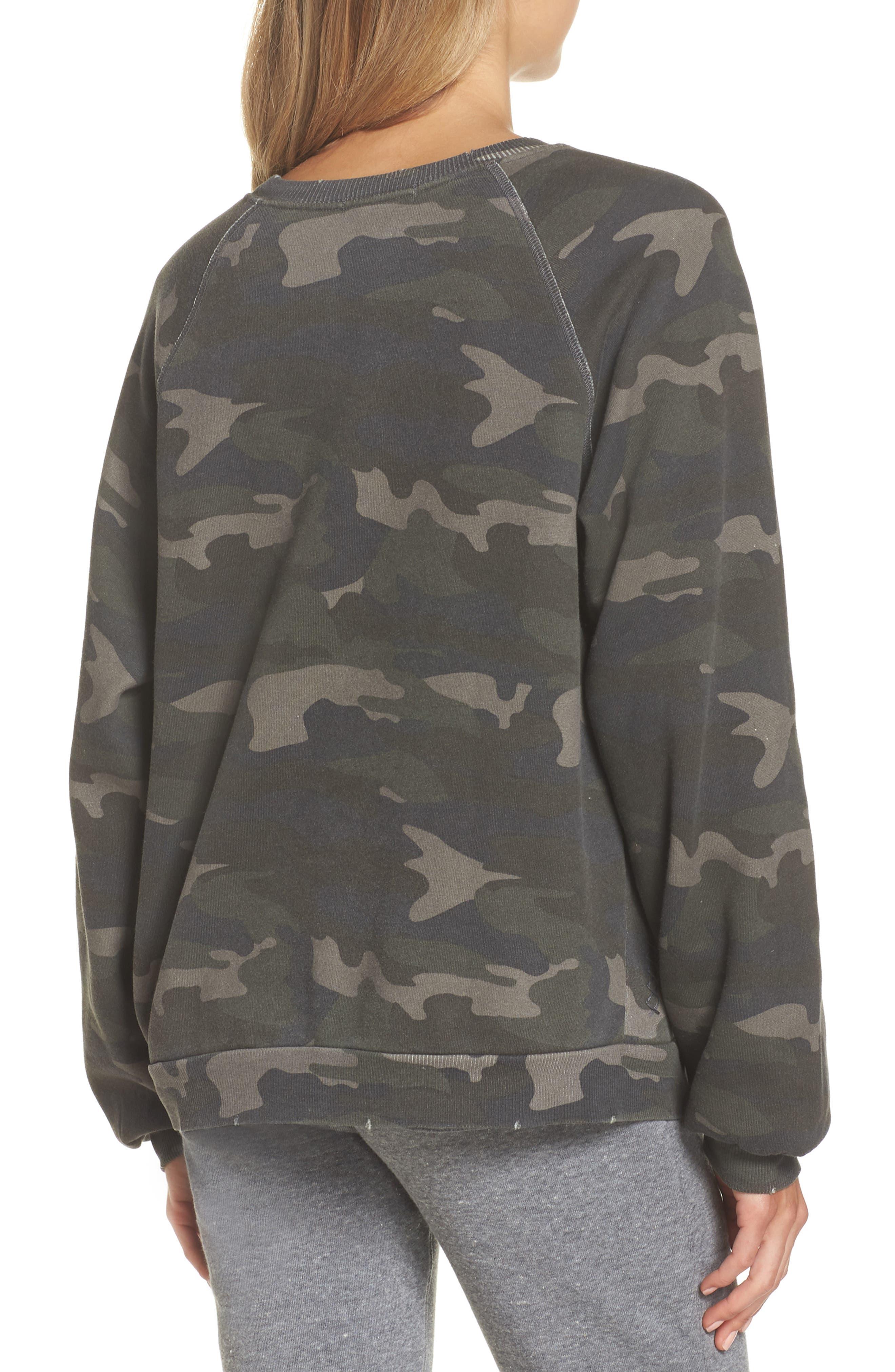 RAGDOLL, Camo Oversize Sweatshirt, Alternate thumbnail 2, color, CAMO