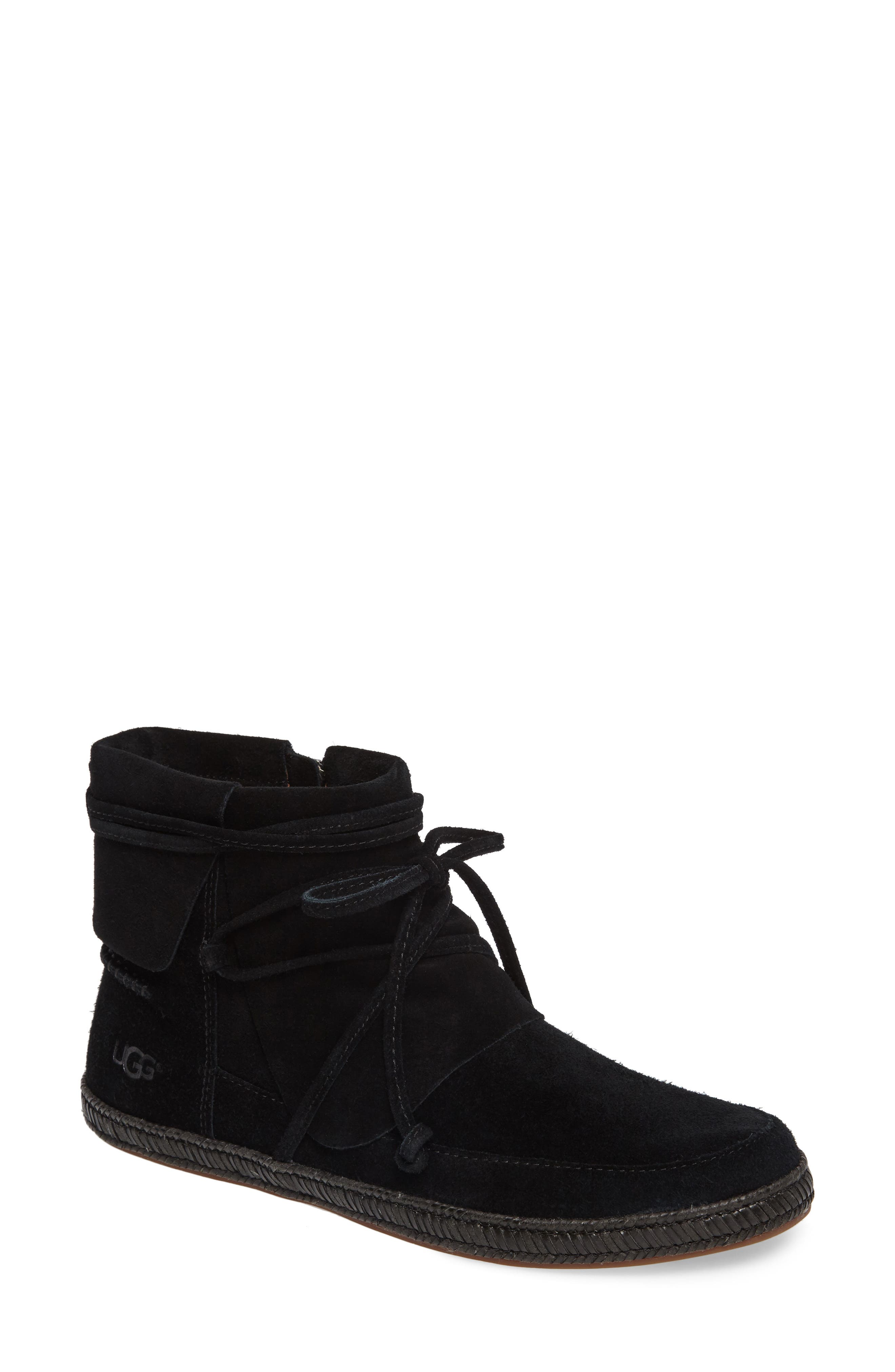 UGG<SUP>®</SUP>, Reid Boot, Main thumbnail 1, color, BLACK SUEDE