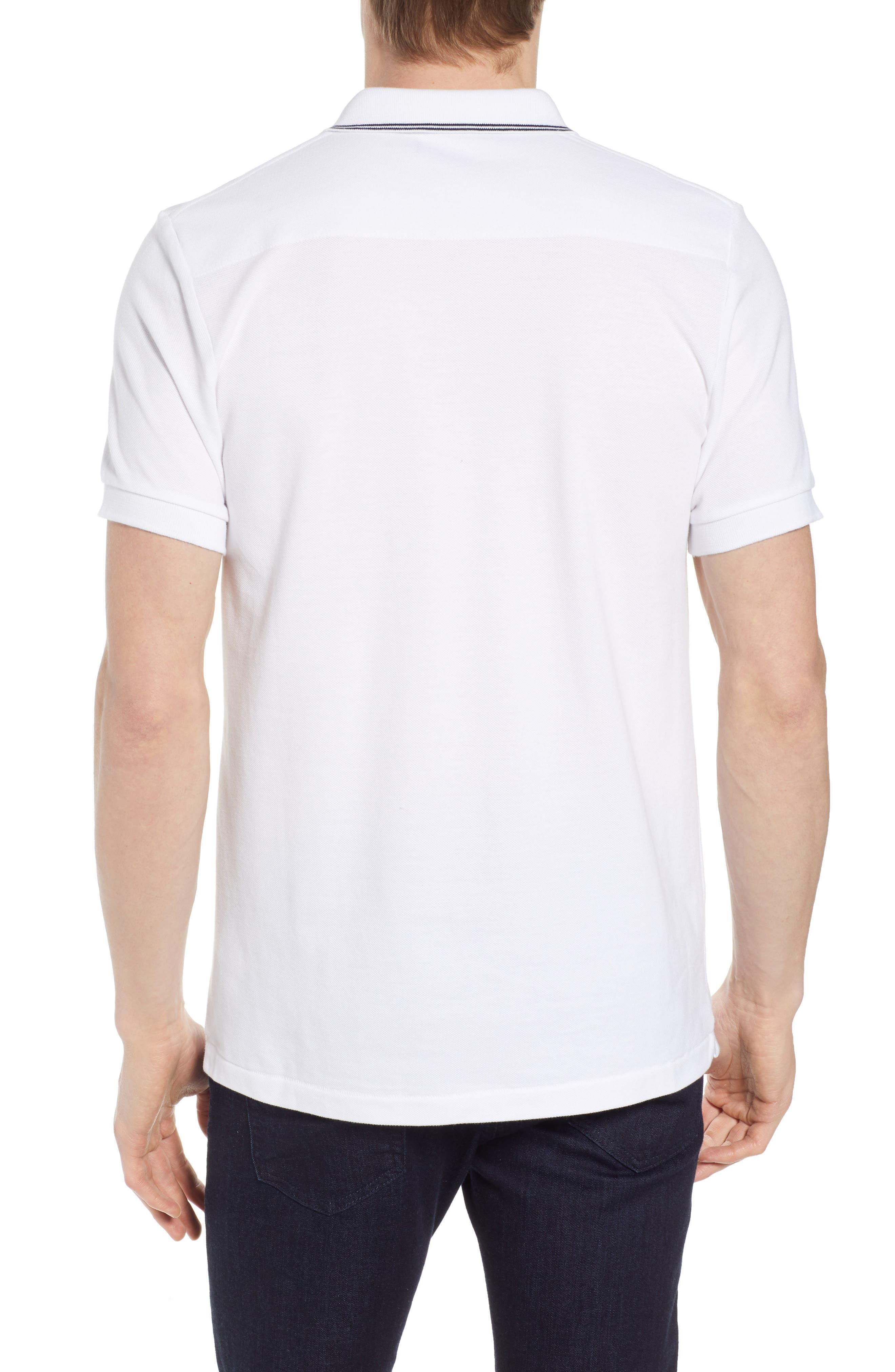 FRENCH CONNECTION, Summer Tipped Polo, Alternate thumbnail 2, color, 121