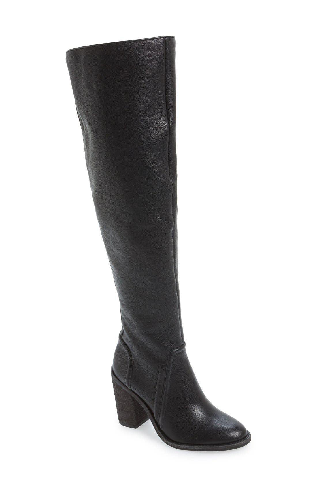 VINCE CAMUTO 'Melaya' Over the Knee Boot, Main, color, 001