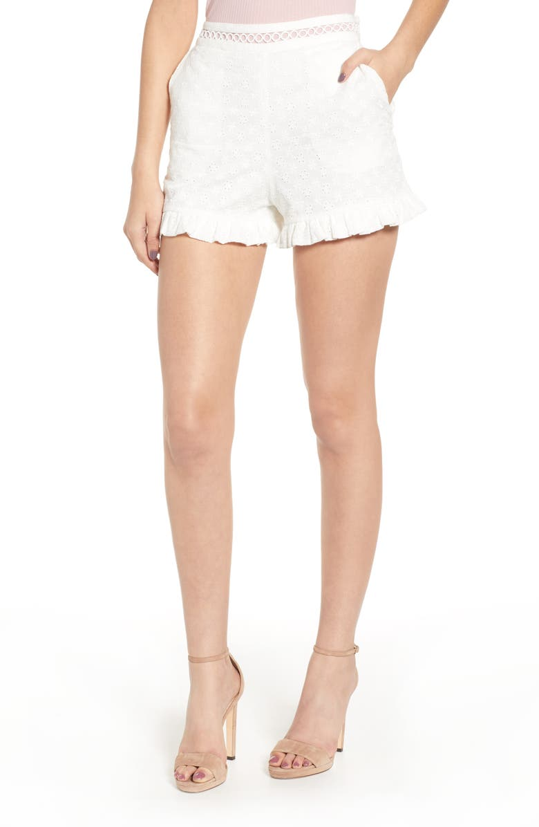 Endless Rose Shorts EYELET HIGH WAIST SHORTS