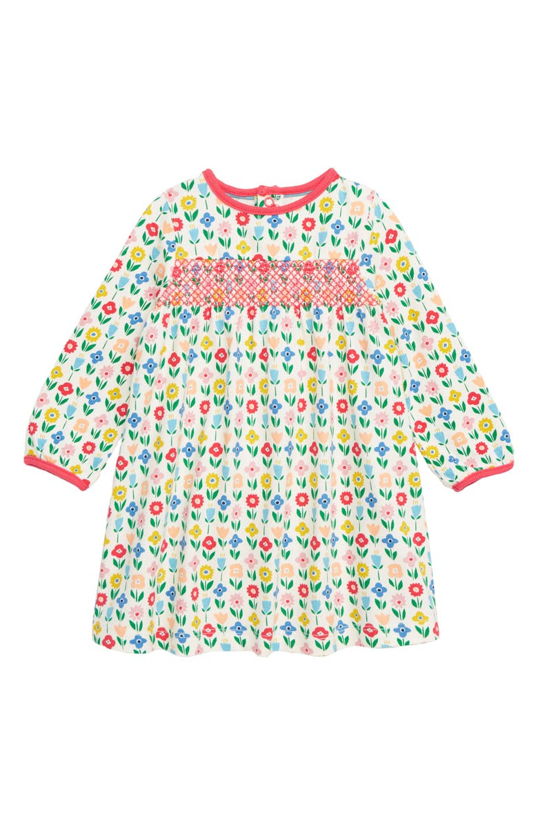 c8694821e59 MINI BODEN Pretty Smocked Jersey Dress, Main, color, MULTI BABY FLOWER PATCH