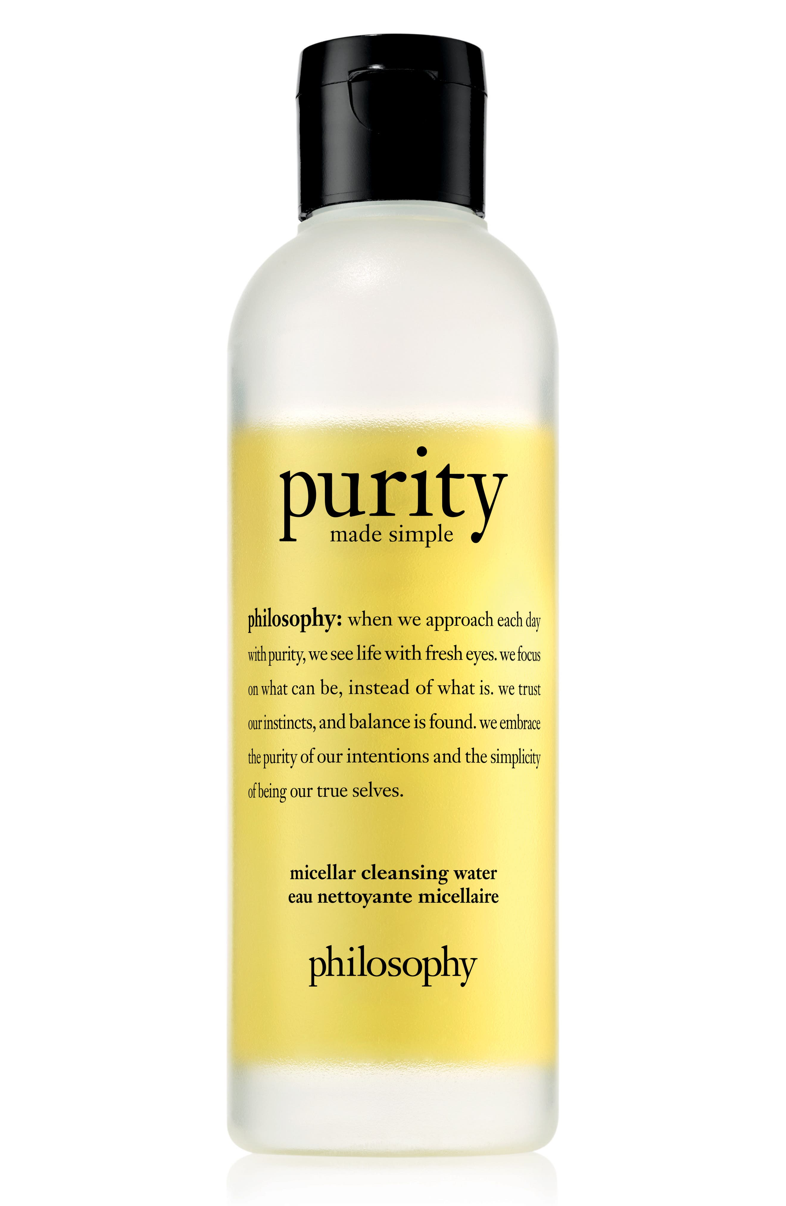 PHILOSOPHY, purity made simple micellar water, Main thumbnail 1, color, NO COLOR