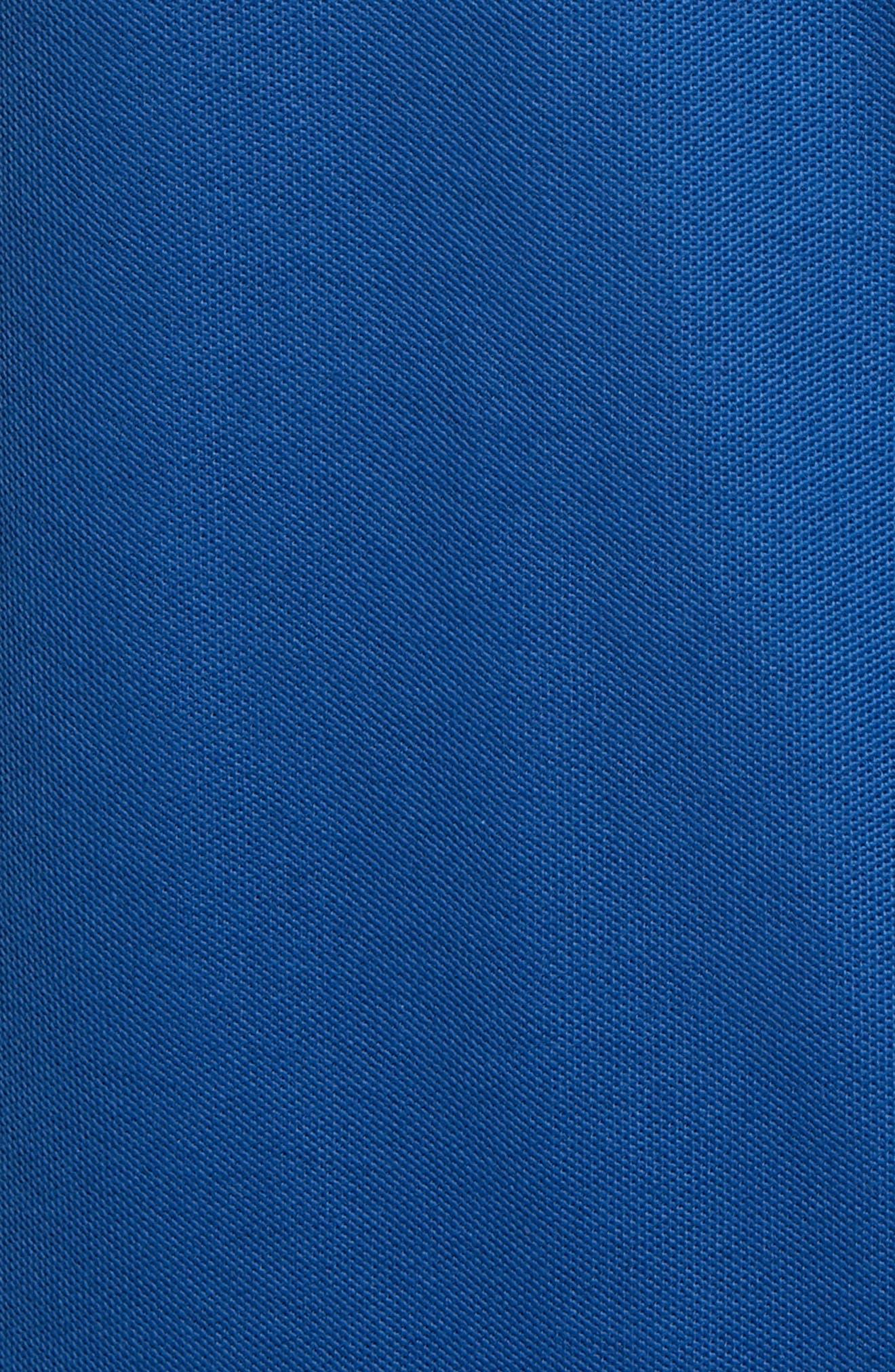 NORDSTROM MEN'S SHOP, Regular Fit Piqué Polo, Alternate thumbnail 5, color, BLUE CASPIA